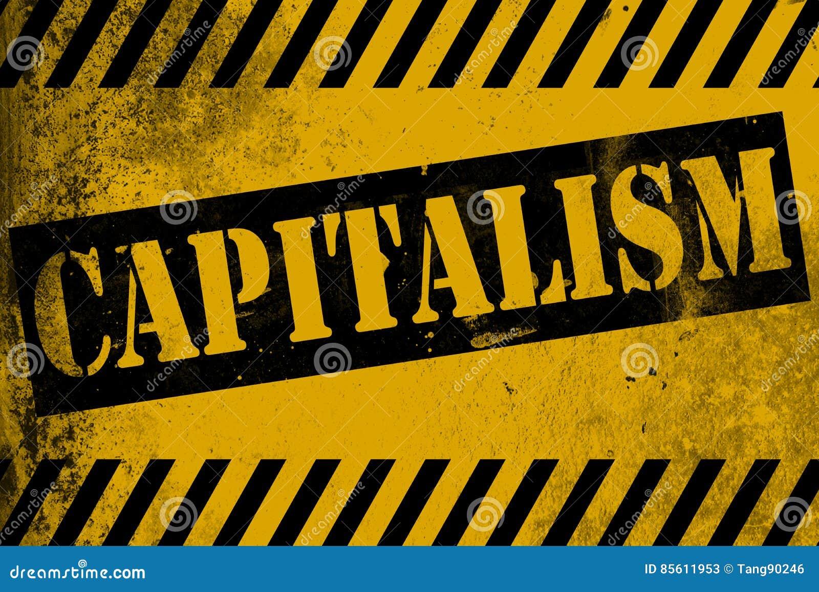 Kapitalismuszeichengelb mit Streifen