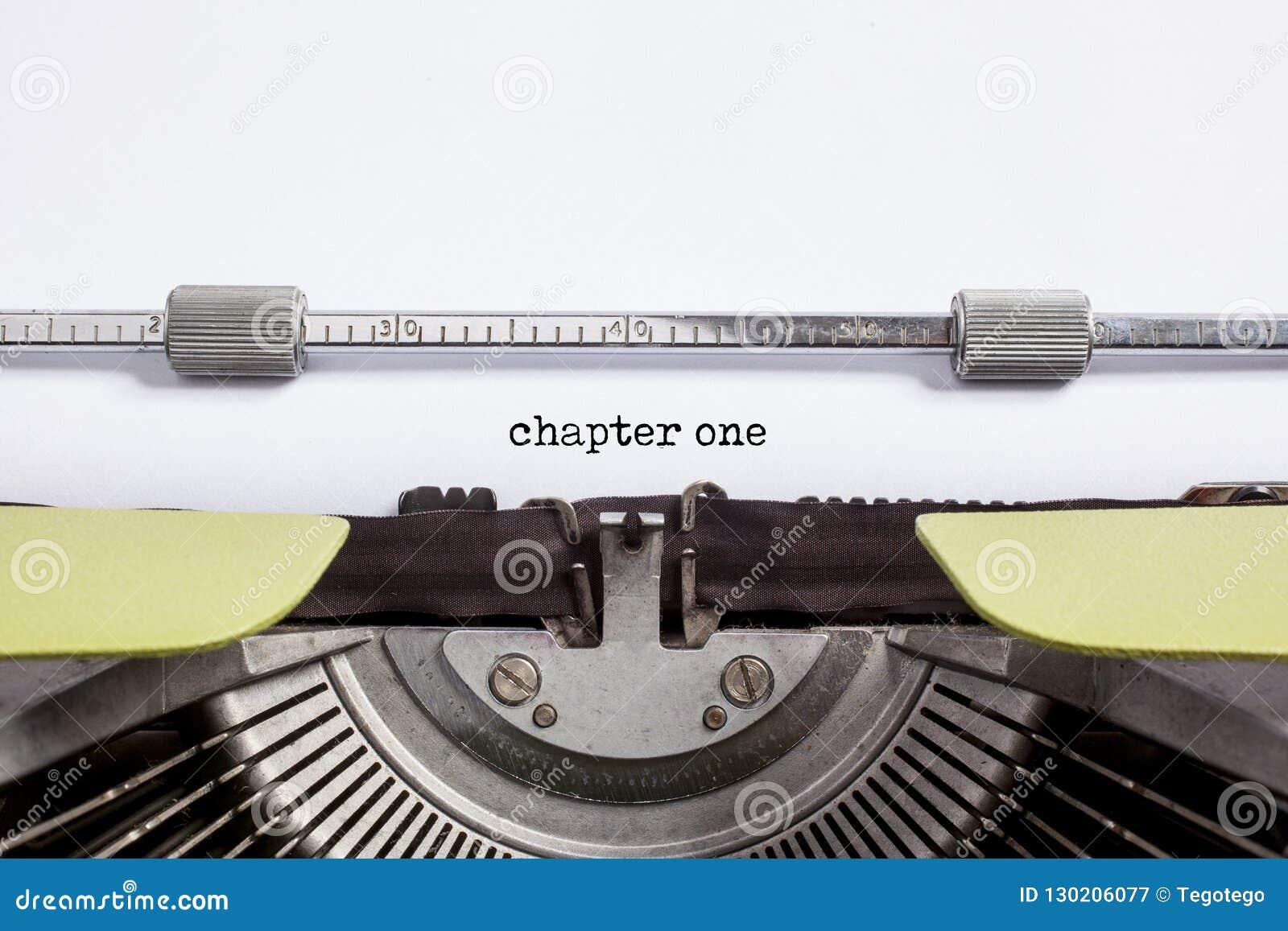 Kapitel ett - historieberättande