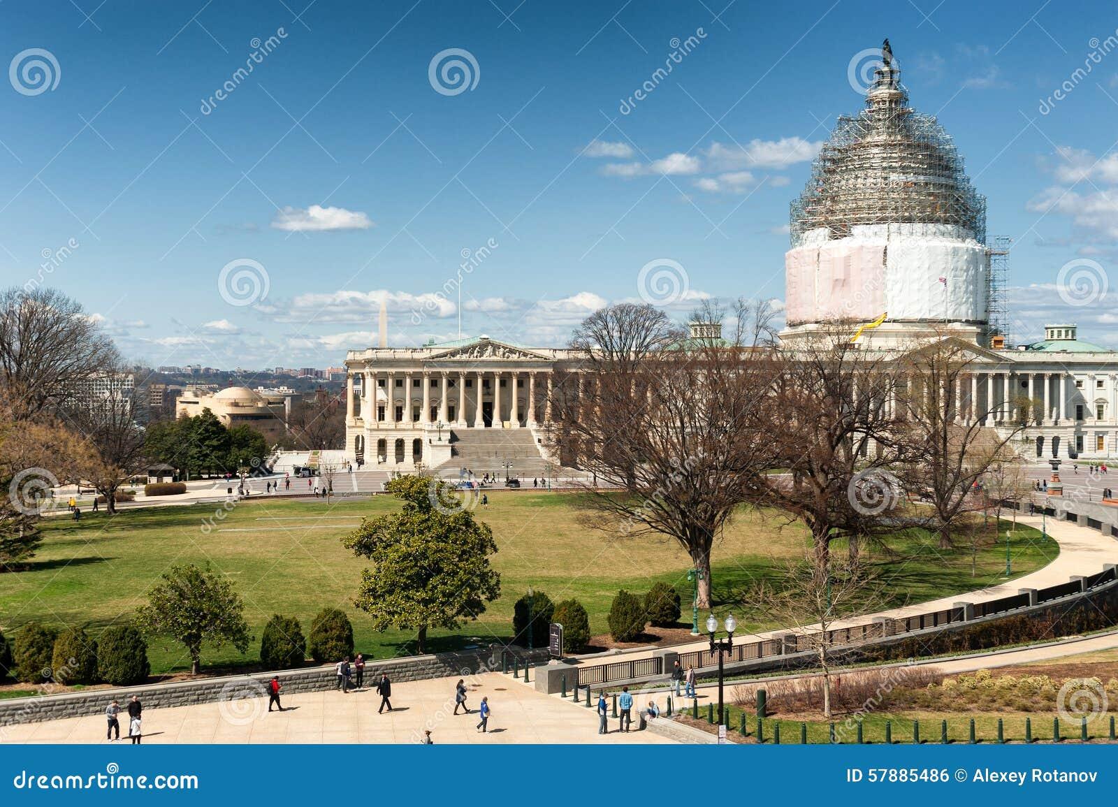 Kapitol-Gebäude Vereinigter Staaten auf Rekonstruktion