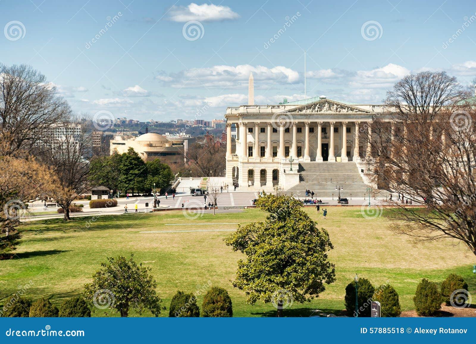 Kapitol Vereinigter Staaten, das Ostseite im Tageslicht errichtet