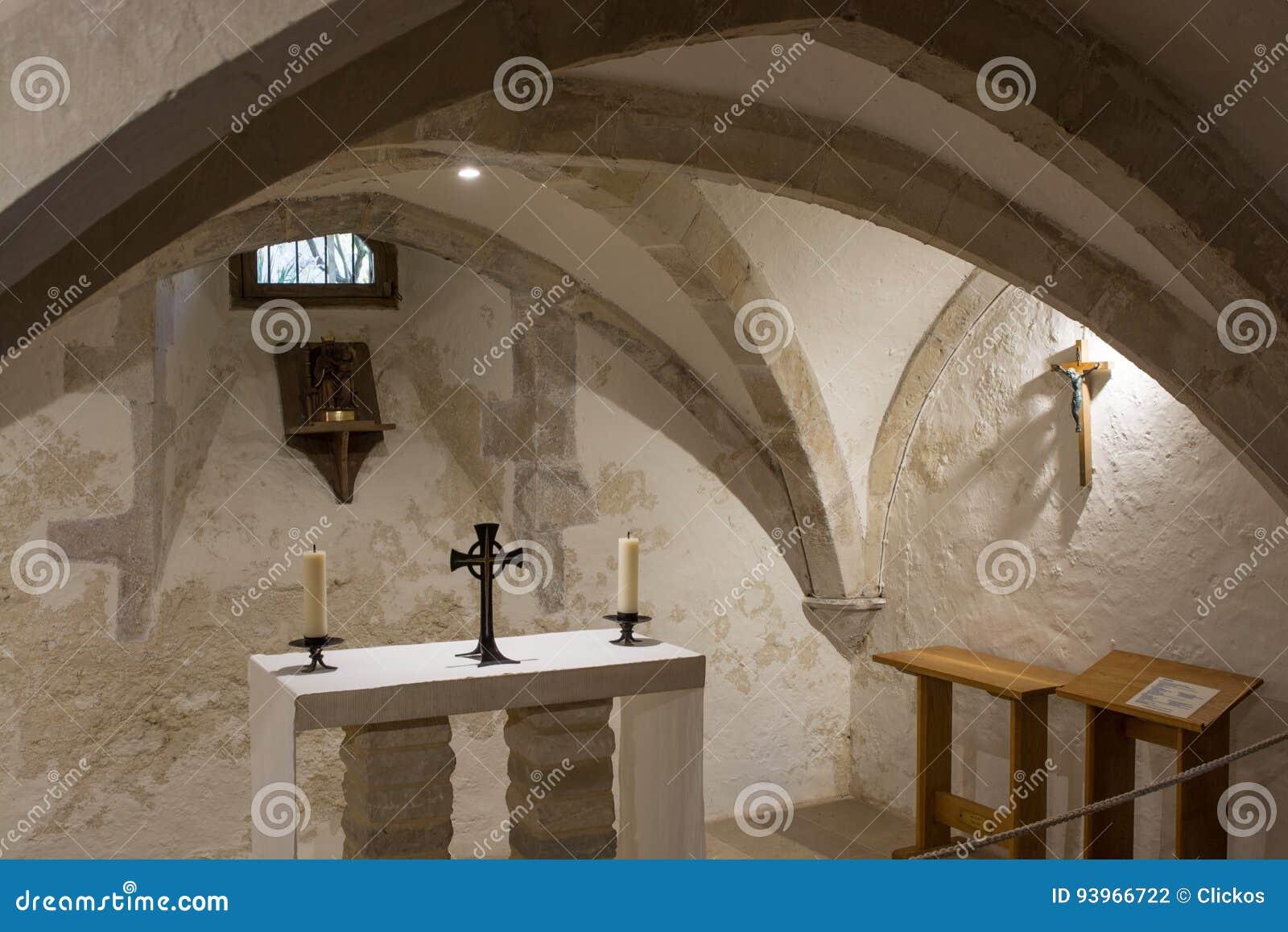 Kaplica w Świętej trójcy kościół, Bosham, Sussex, Anglia