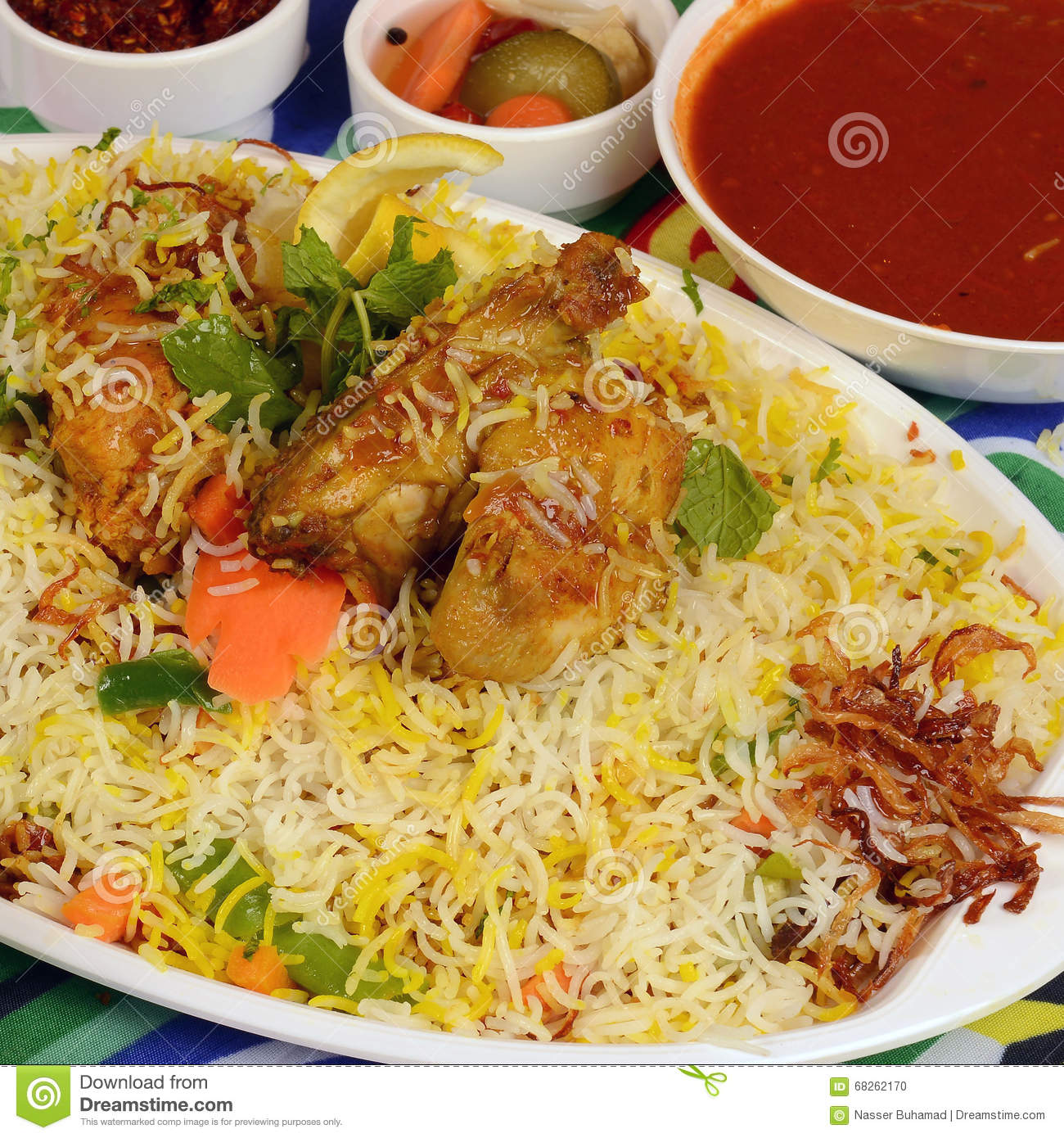 Kapsa chicken rice recipe stock photo image of kabsah 68262170 beef chicken mixed rice dishes that originates in yemen middle eastern food forumfinder Gallery