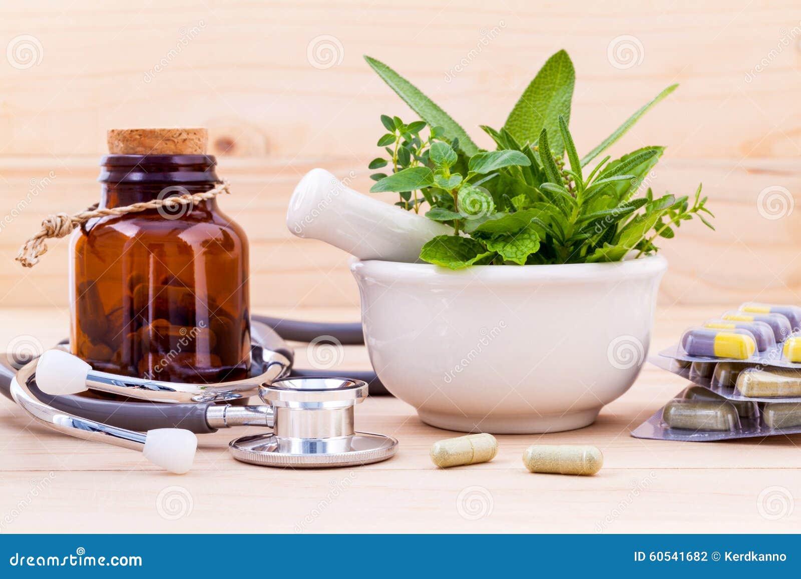Kapsel av alternativsjukvården för växt- medicin