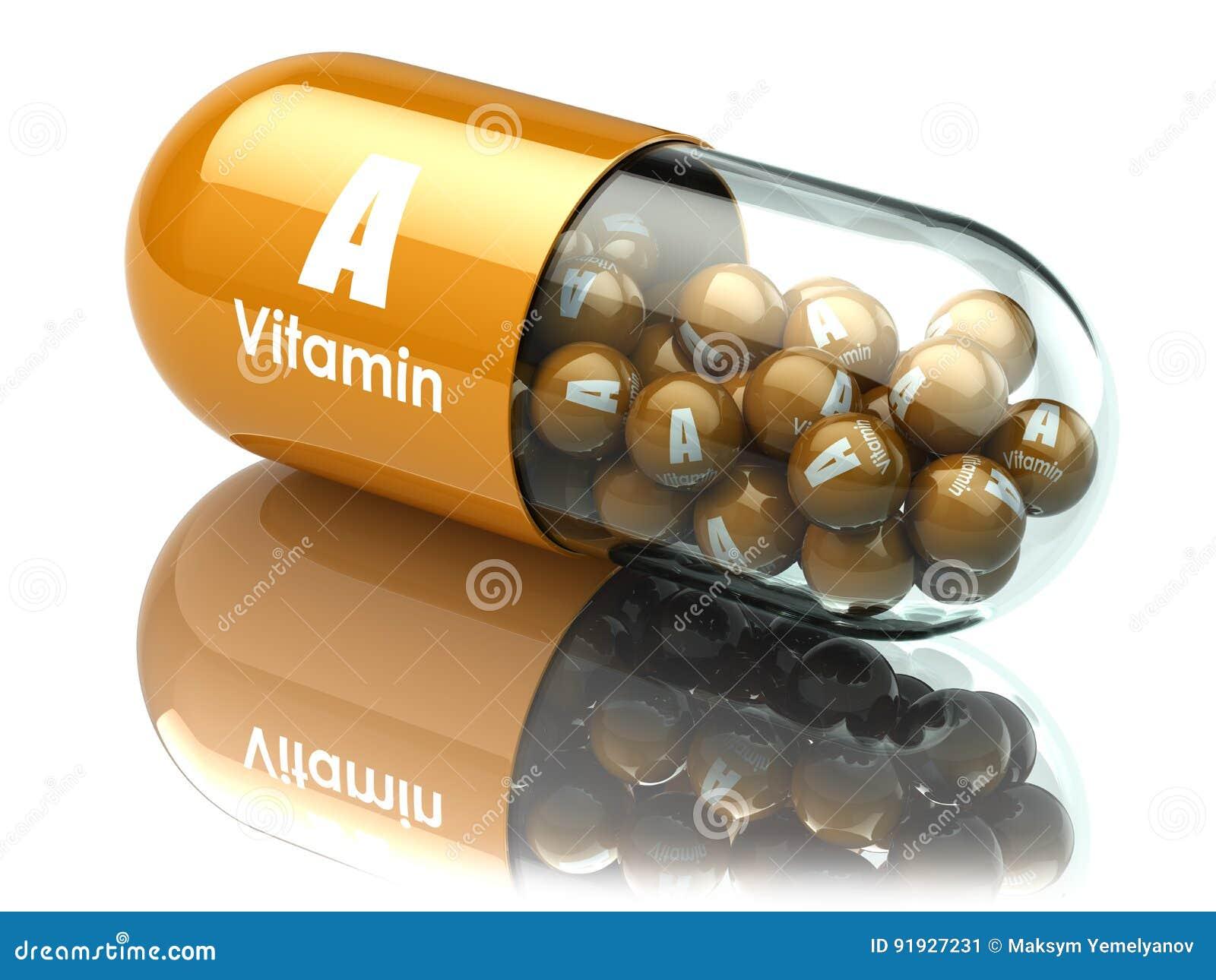 Kapsel eller preventivpiller för vitamin A dietary supplements