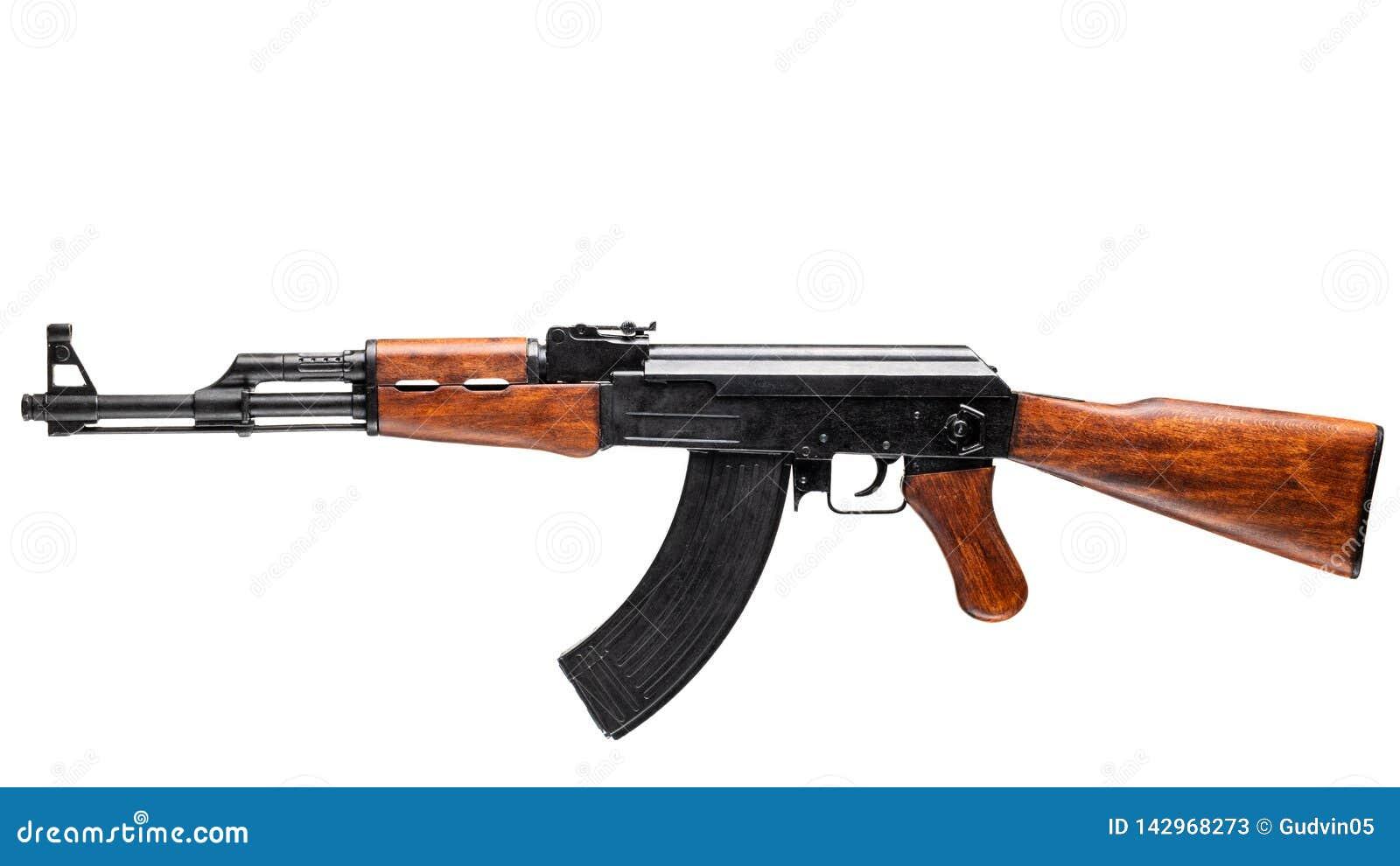 Karabin Szturmowy Odizolowywający Na bielu AK-47