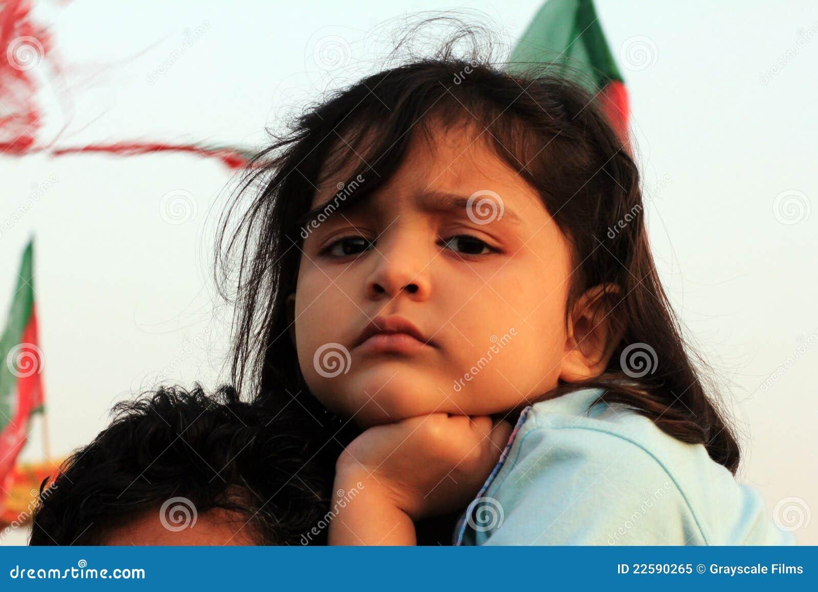 Karachi Pakistan pti zwolennika potomstwa
