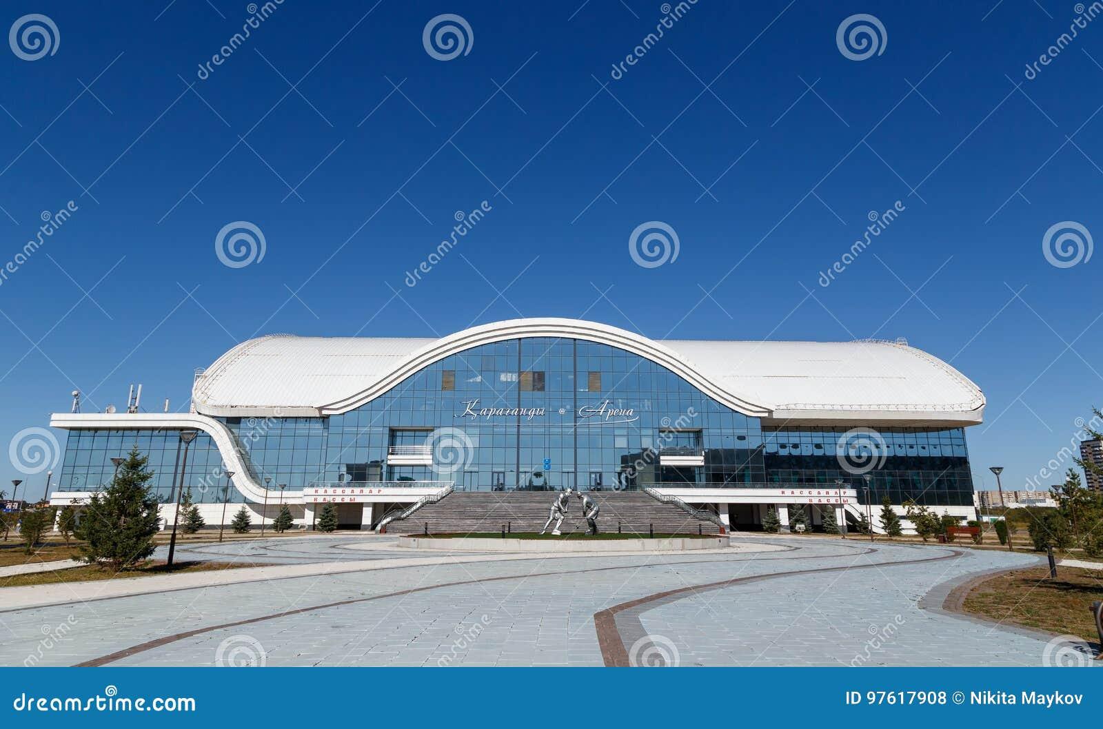 Karaganda, Казахстан - 1-ое сентября 2016: Karaganda ArenaIce p