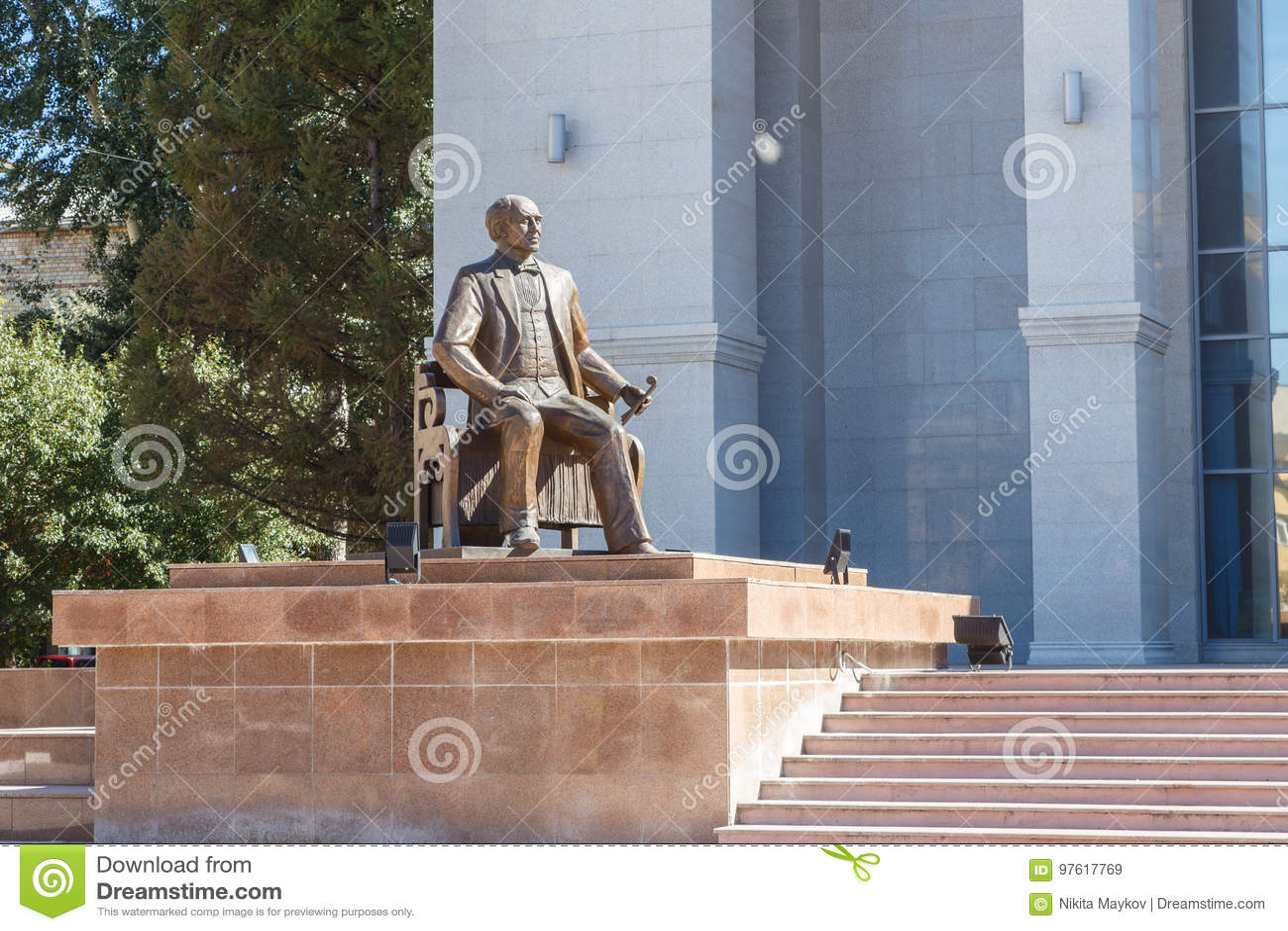 Karaganda, Cazaquistão - 1º de setembro de 2016: Monumento KS Stanislav