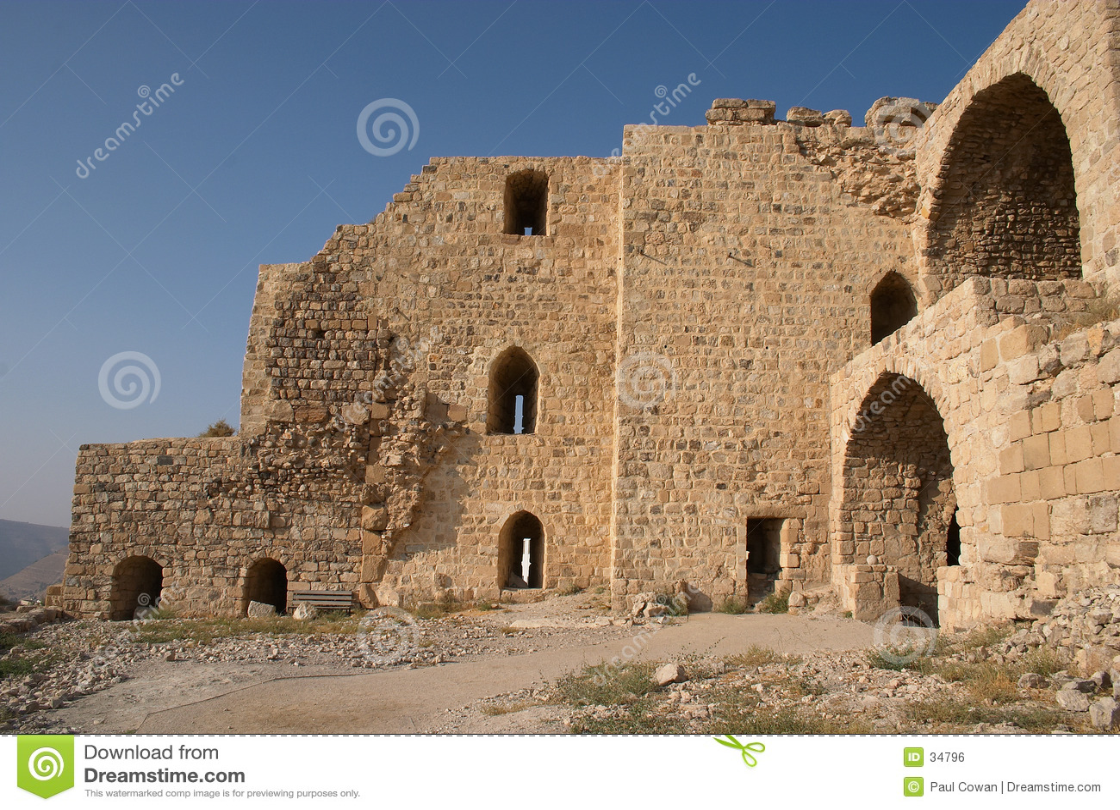 Karak castle ruins
