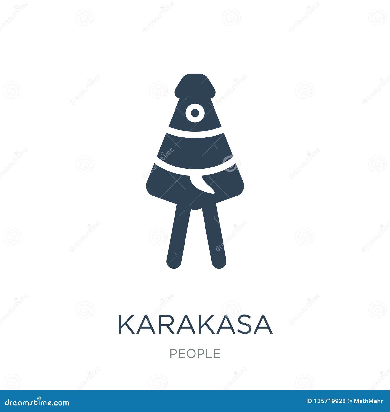 Karakasapictogram in in ontwerpstijl karakasapictogram op witte achtergrond wordt geïsoleerd die eenvoudige en moderne vlakte van