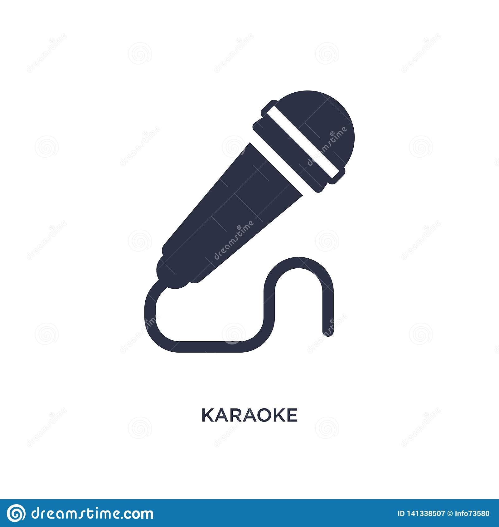 Karaoke ikona na białym tle Prosta element ilustracja od hobby pojęcia