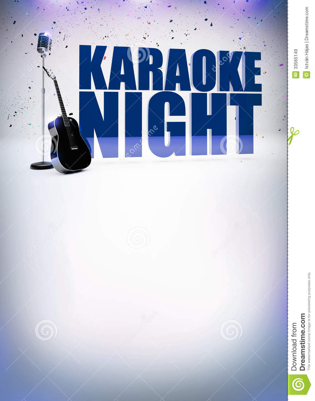Karaoke Music Poster Royalty Free Stock Images - Image: 33565149