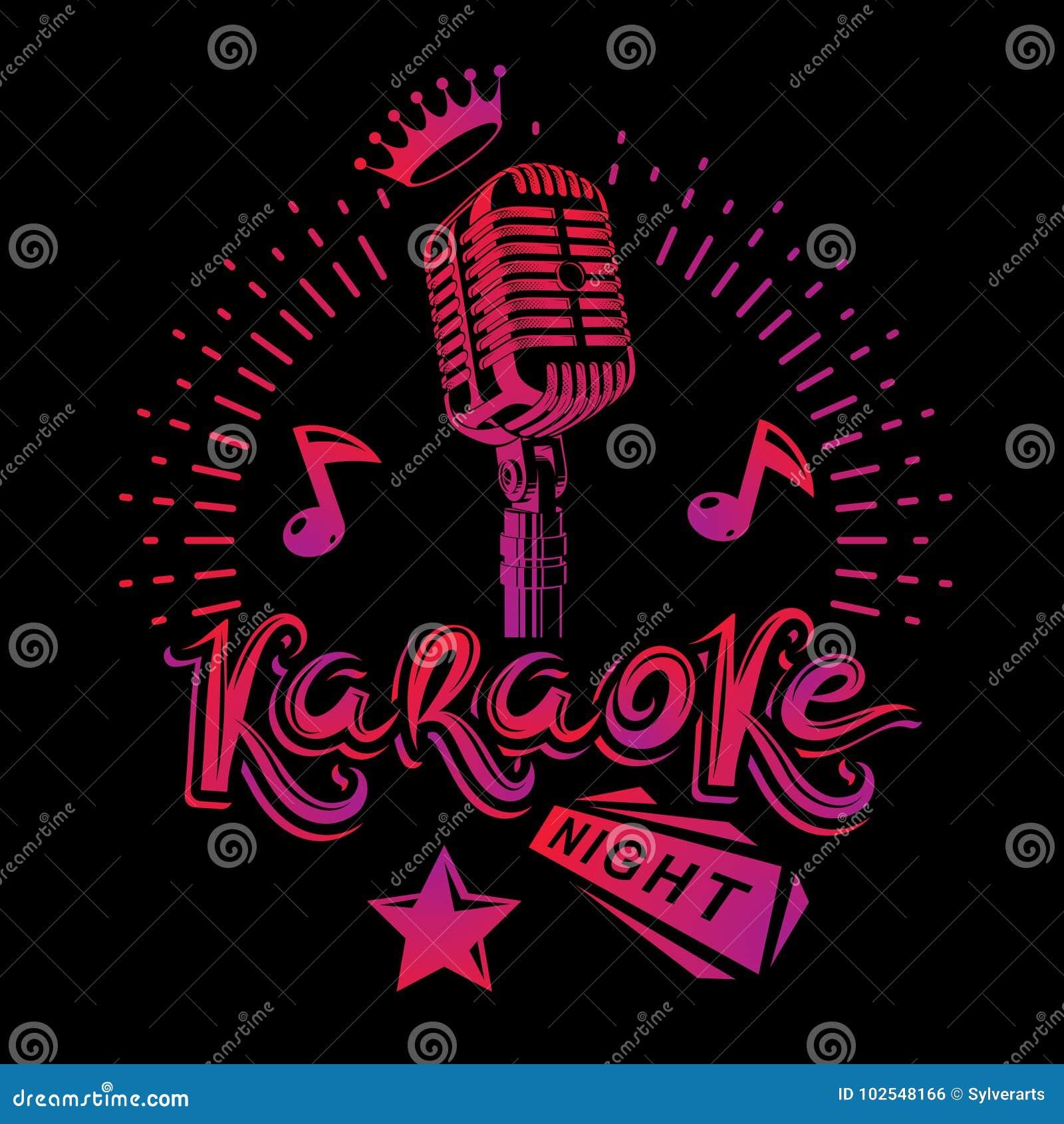 Karaoke Noc I Klubu Nocnego Discotheque Zaproszenia