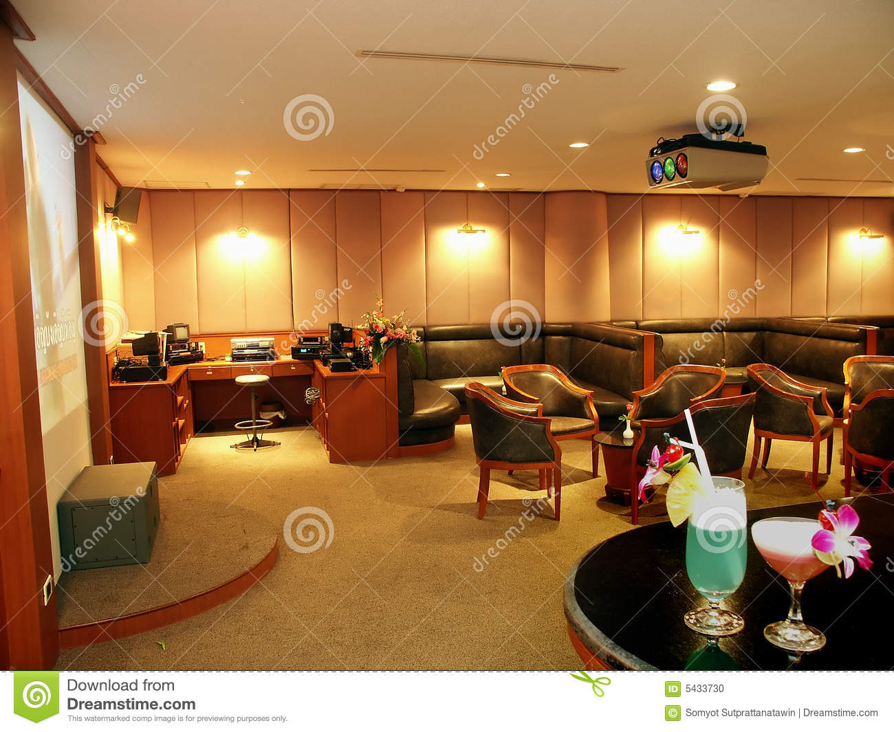 Karaoke room stock photo image 5433730 for Living room karaoke