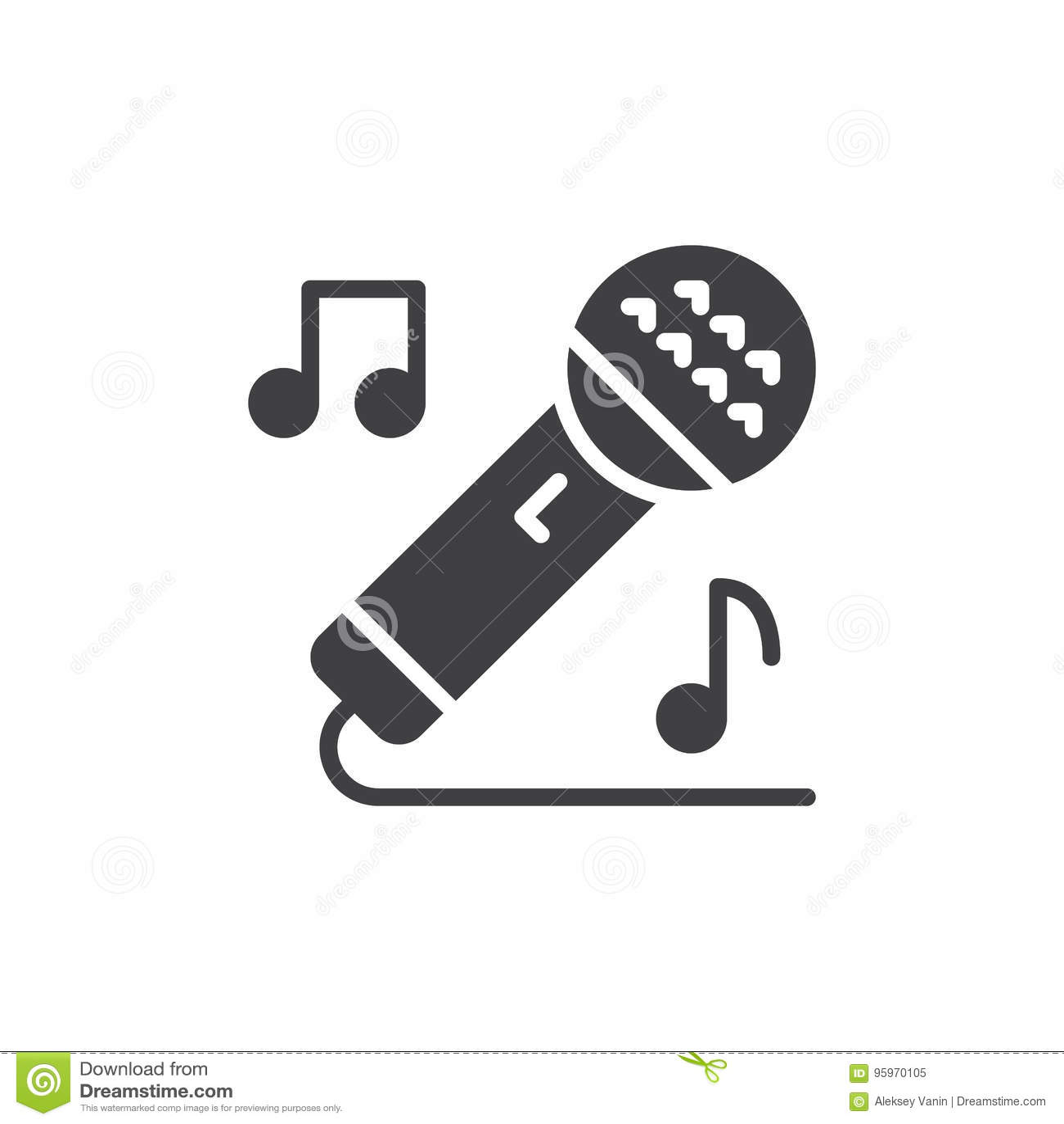 Karaoke Singing Icon Vector, Filled Flat Sign, Solid Pictogram ...