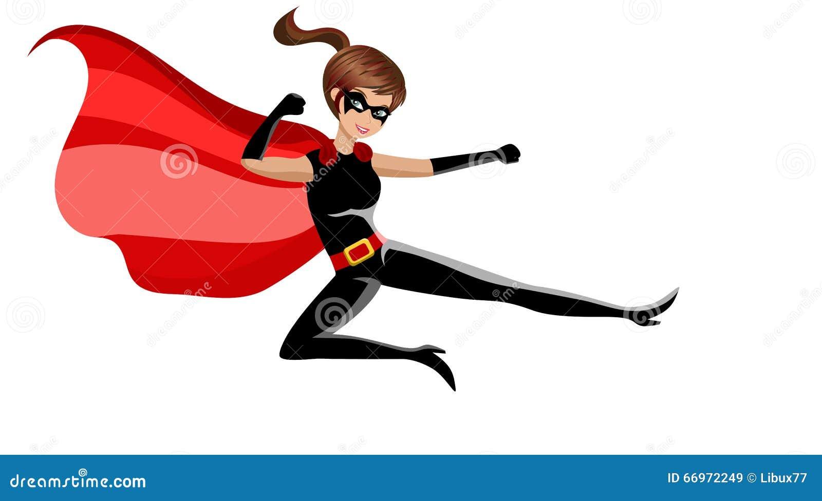 Karat de combat de femme de super h ros illustration de vecteur image 66972249 - Liste de super heros femme ...
