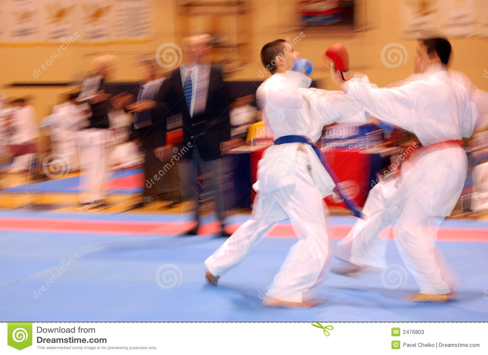 Karate αγώνα επίθεσης
