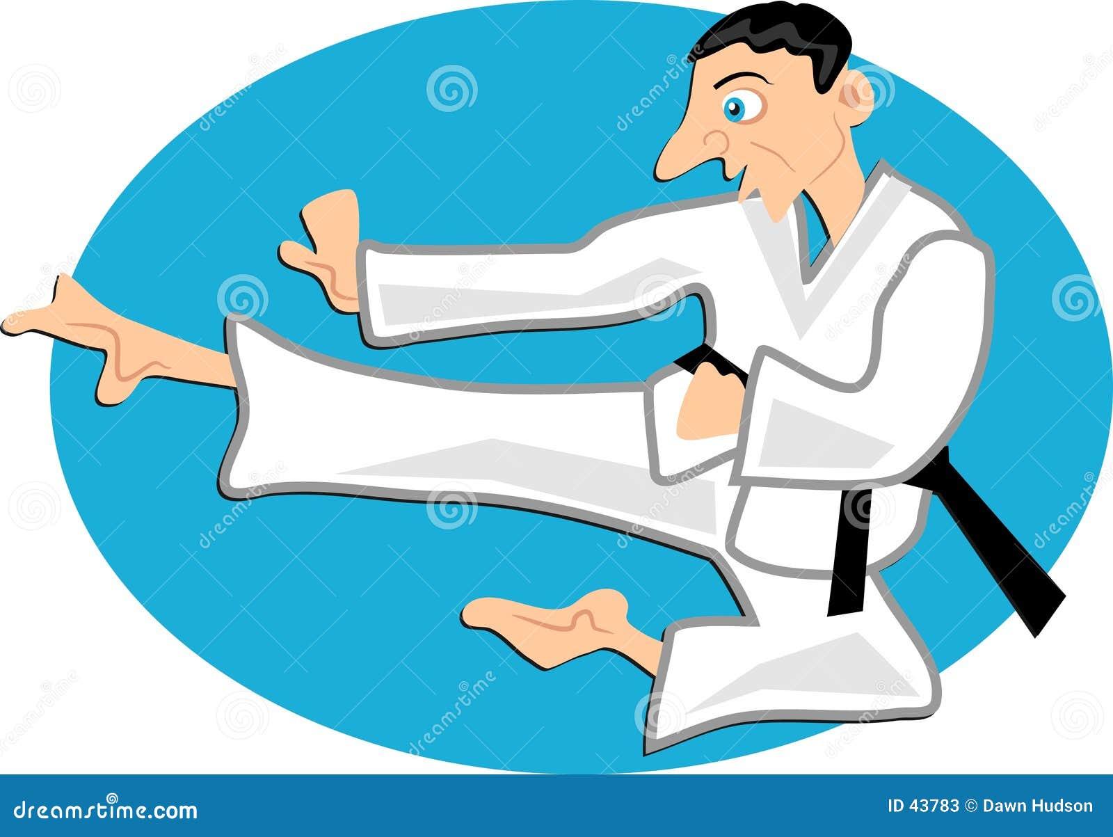 Download Karate ilustración del vector. Ilustración de combate, ataque - 43783