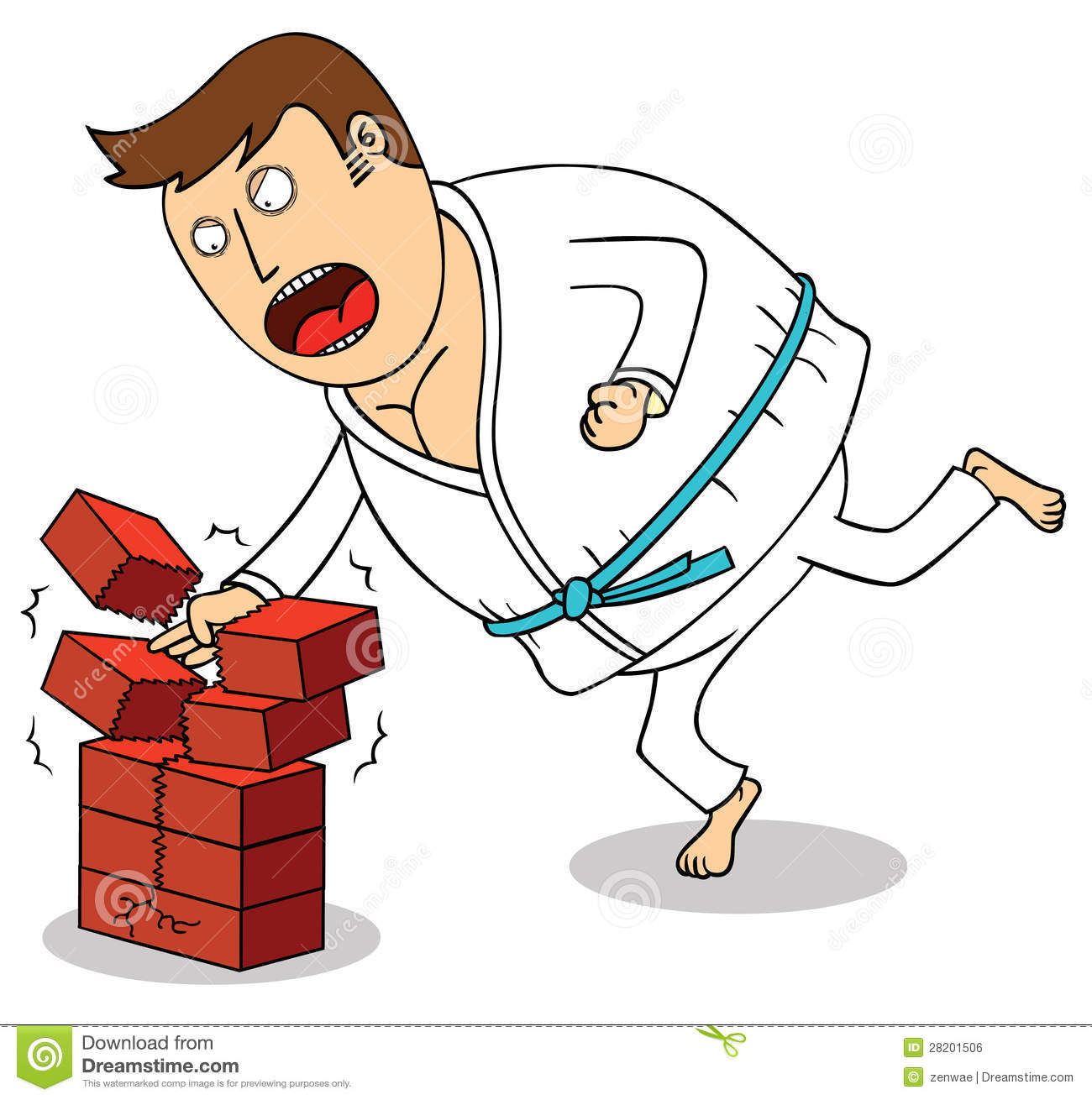 Karate - Breaking Bricks Royalty Free Stock Image - Image: 28201506
