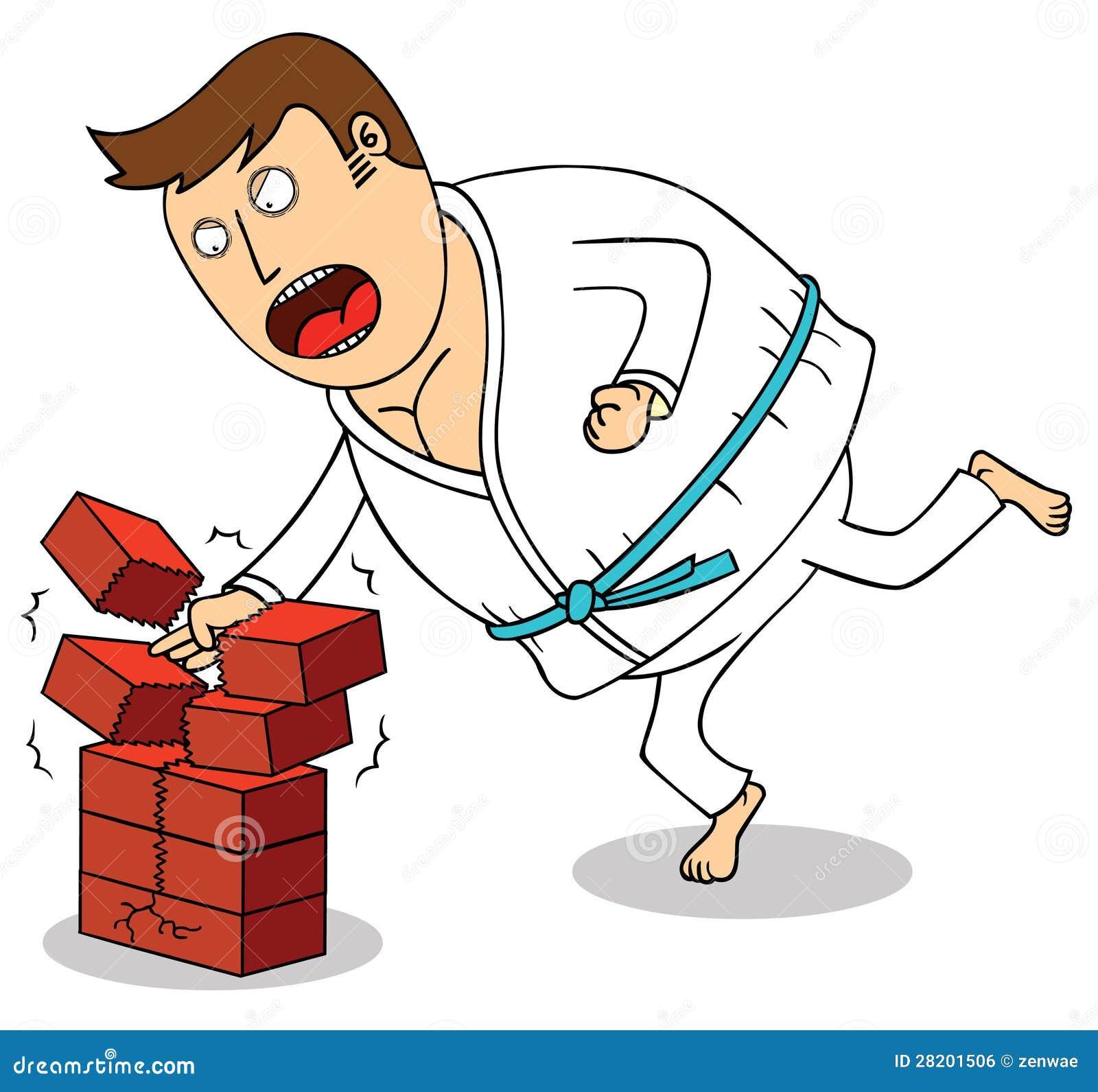 Karate - Breaking Bricks Royalty Free Stock Image - Image: 28201506