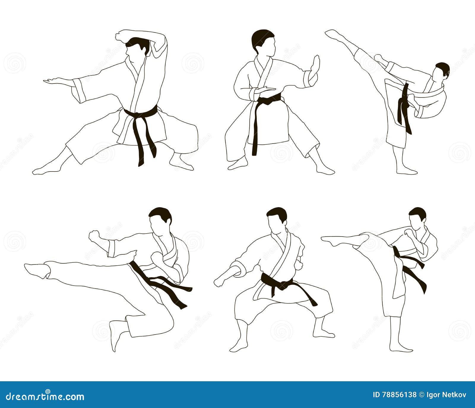 Karate Icon Set Stock Vector Illustration Of Fight Cartoon 78856138