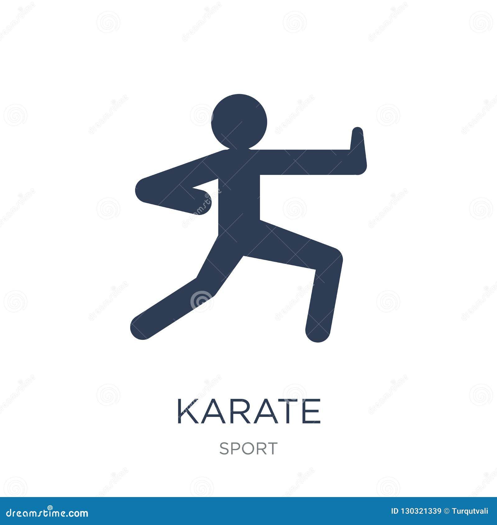 Karate Icon Trendy Flat Vector Karate Icon On White Background