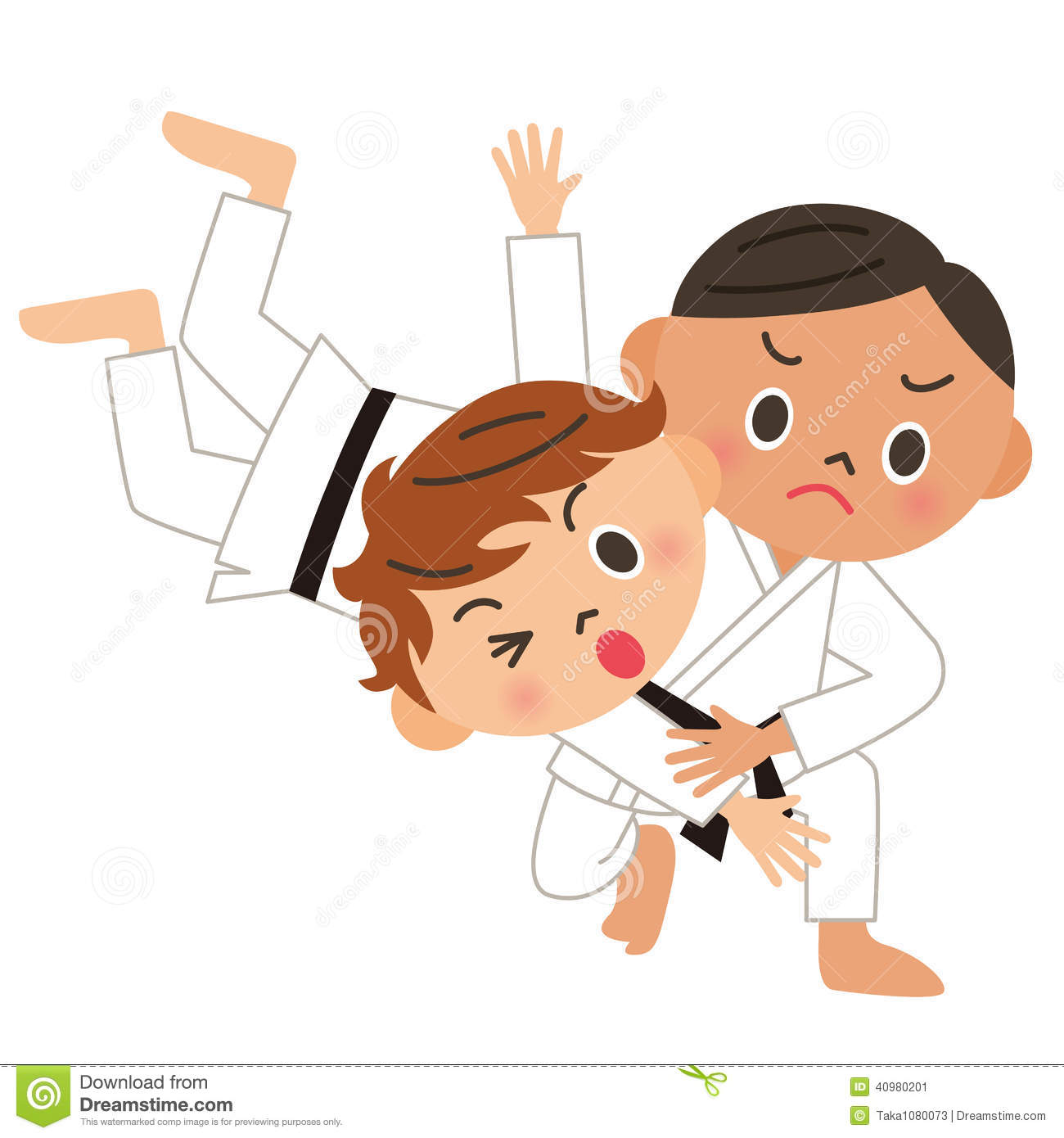 karate  judo  back throw stock vector illustration of karate clip art free download karate clipart free small