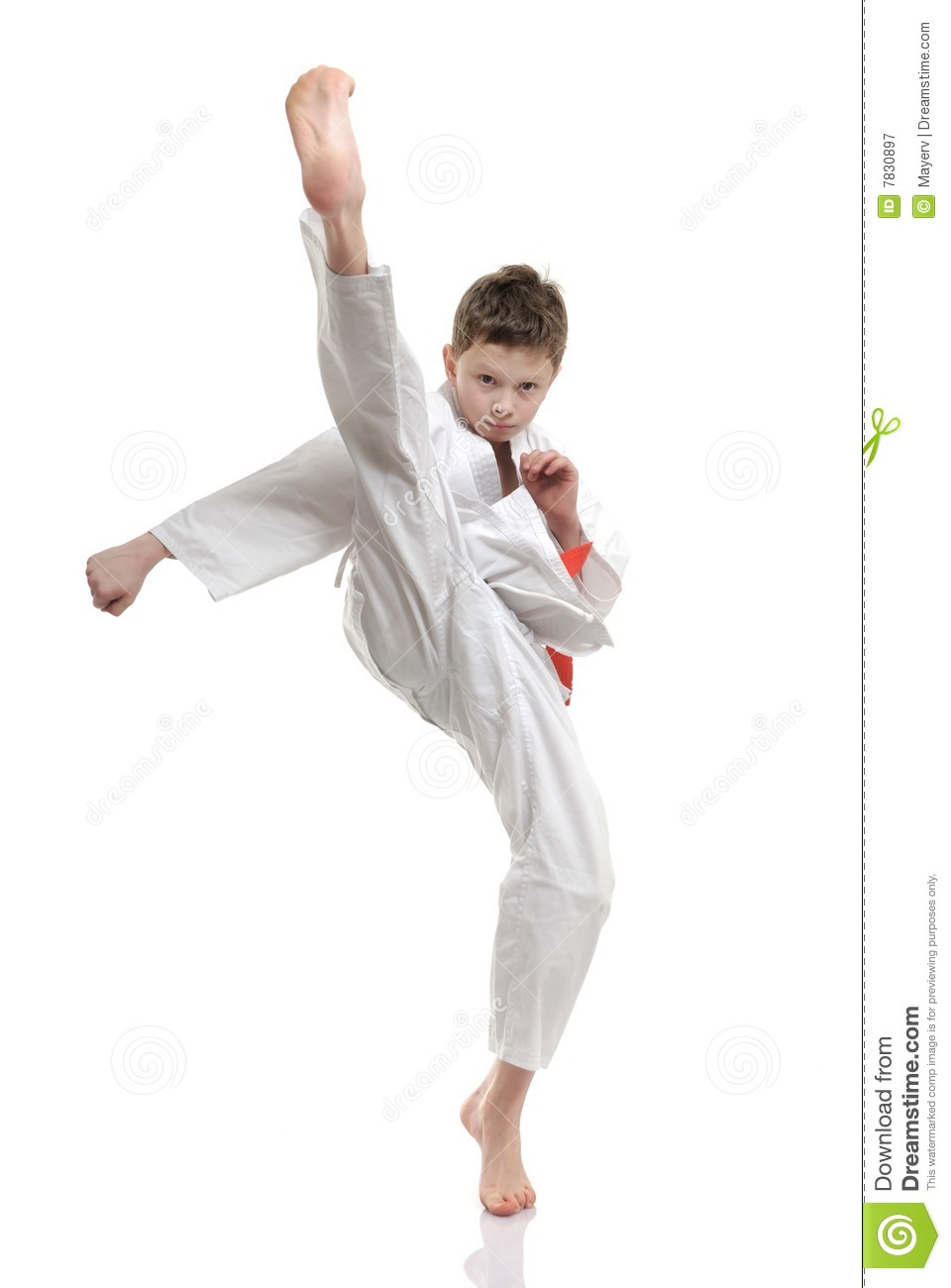 Karate Kid Royalty Free Stock Photography - Image: 7830897