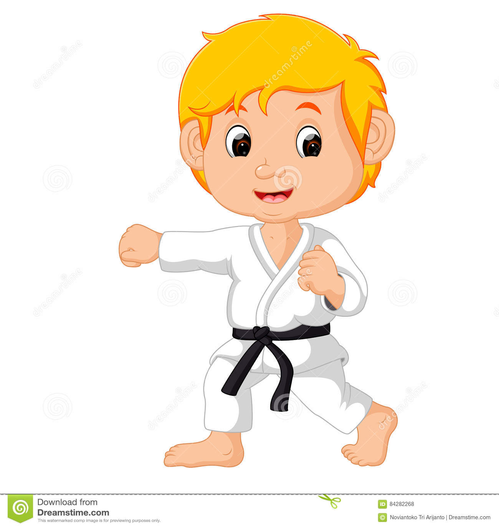 Karate kid stock vector. Illustration of judo, character ...
