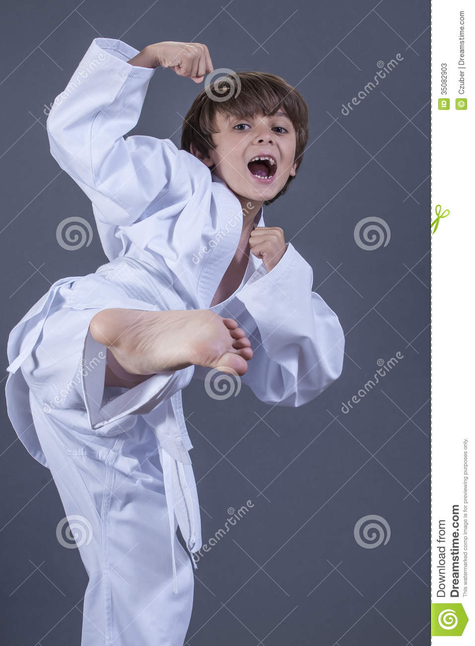 Young Kids Doing Karate