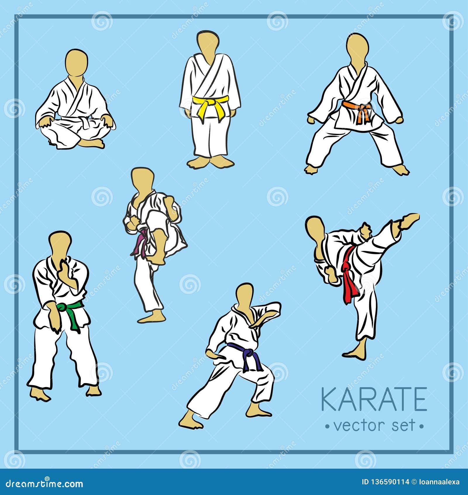 Karate Poses Stock Illustrations 142 Karate Poses Stock Illustrations Vectors Clipart Dreamstime