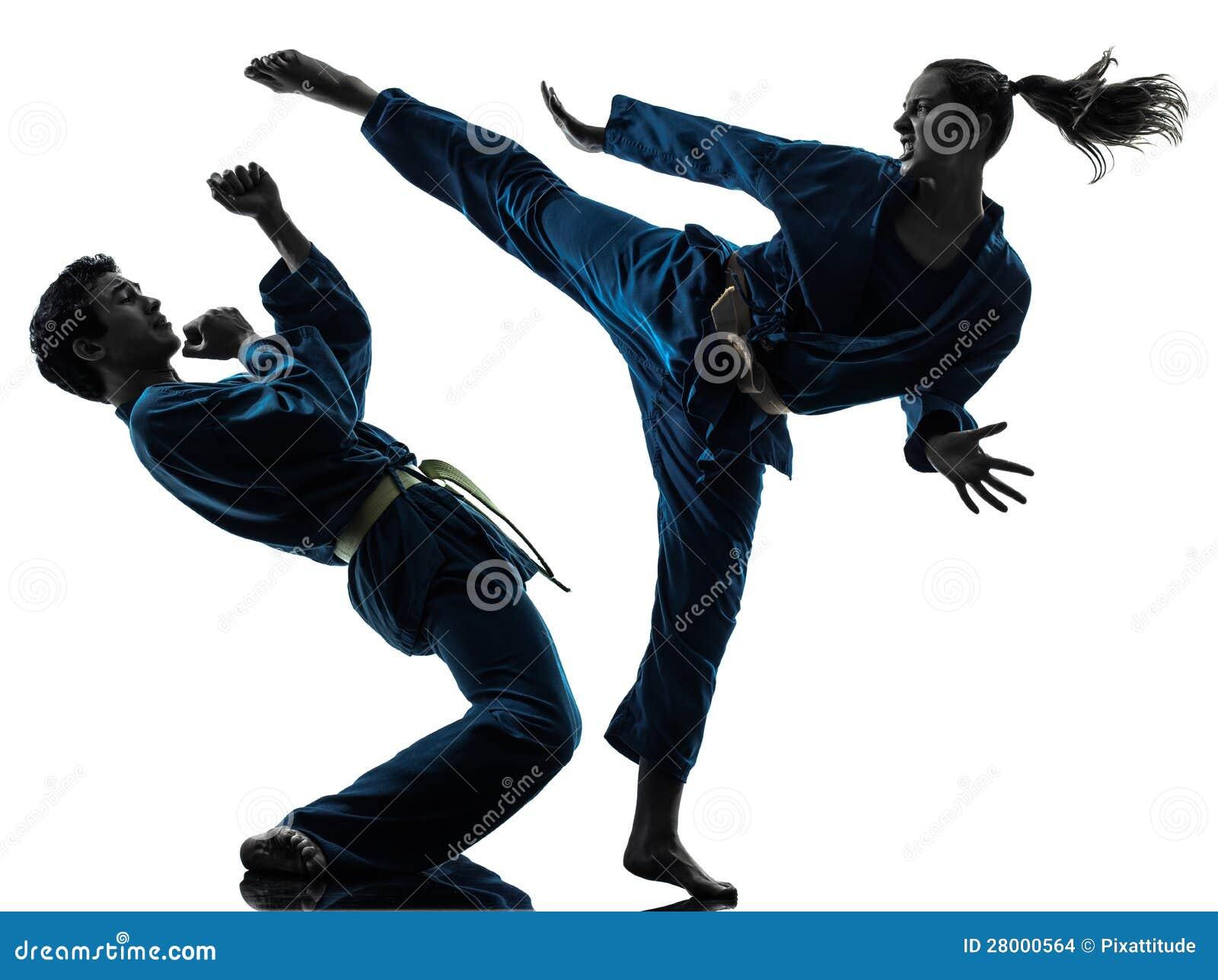 Female karate silhouette