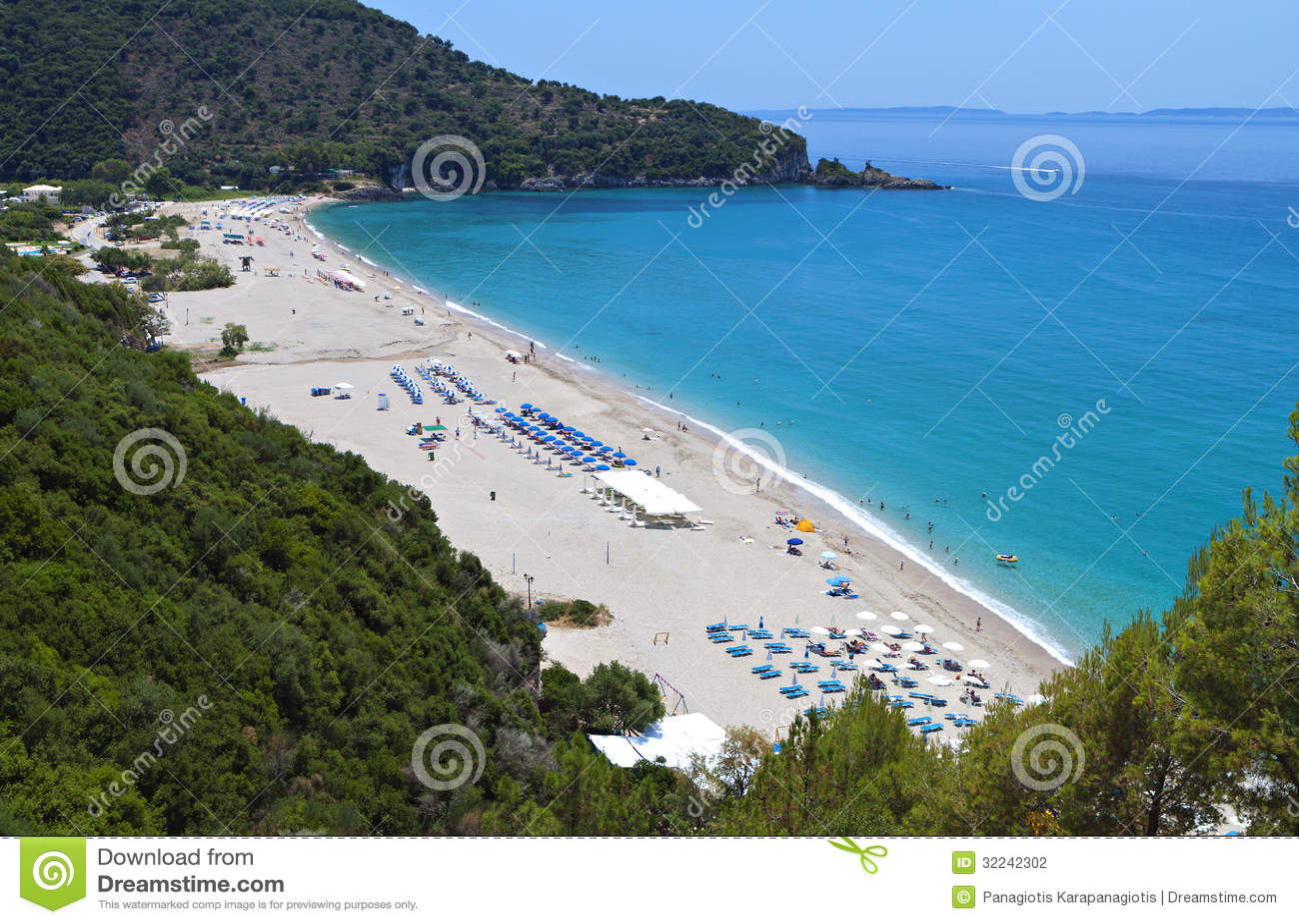 Syvota Greece  city images : Karavostasi Beach At Syvota, Greece Stock Photography Image ...