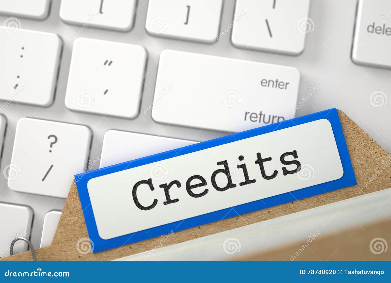 Karciana kartoteka z Wpisowymi kredytami 3d