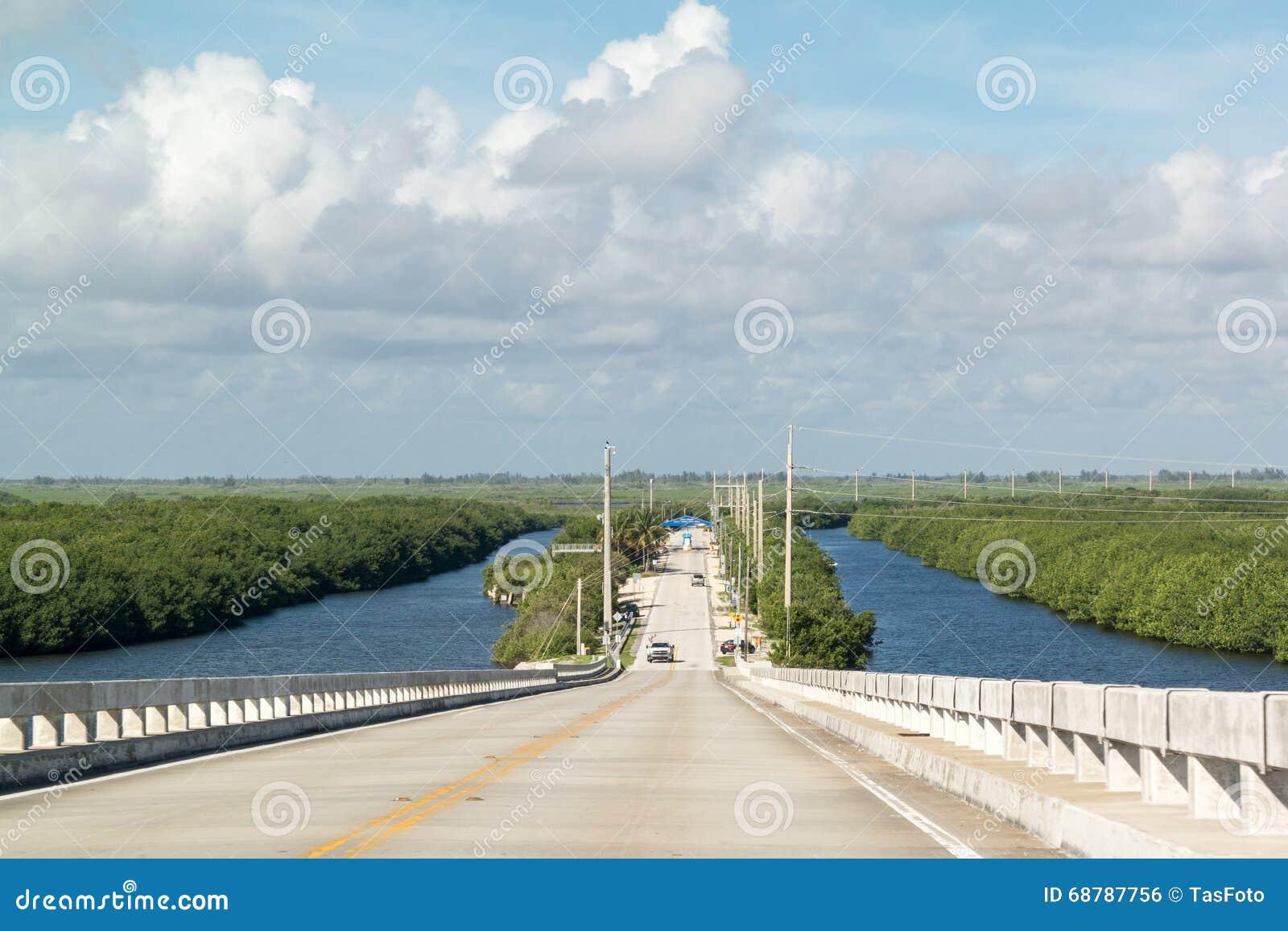 Karciana Rozsądna droga i most, Południowy Floryda, usa