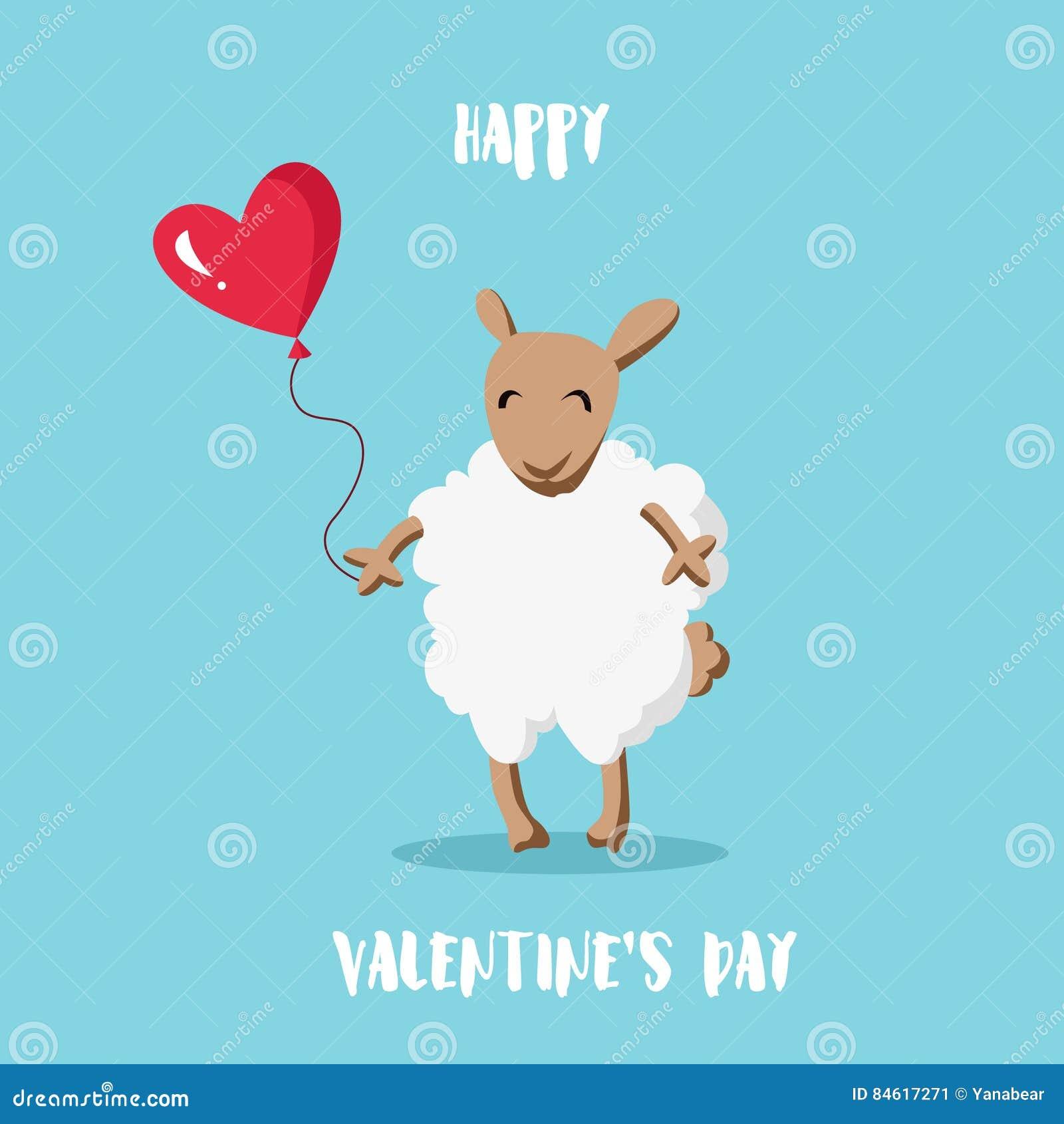 Karcianego dzień szczęśliwi serca target283_0_ s dwa valentine Kreskówka cakle z balonem w formie serca Mieszkanie styl