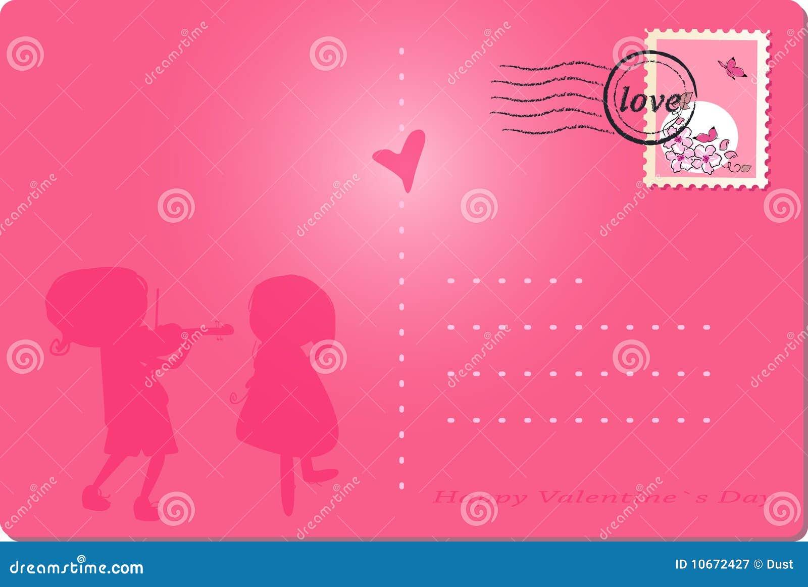 Karcianego dzień szczęśliwy poczta s valentine