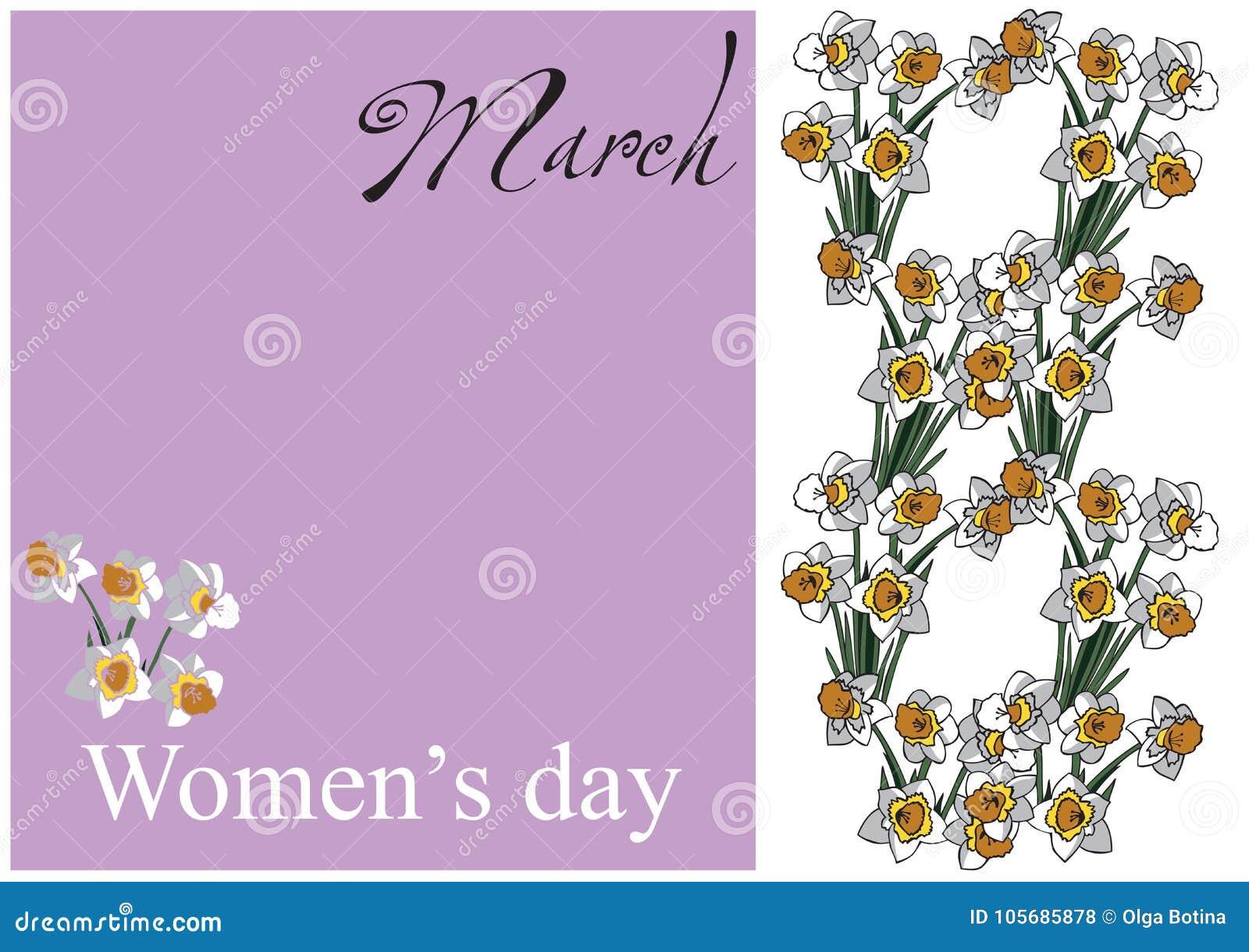 Karciani kobieta dnia kwiaty