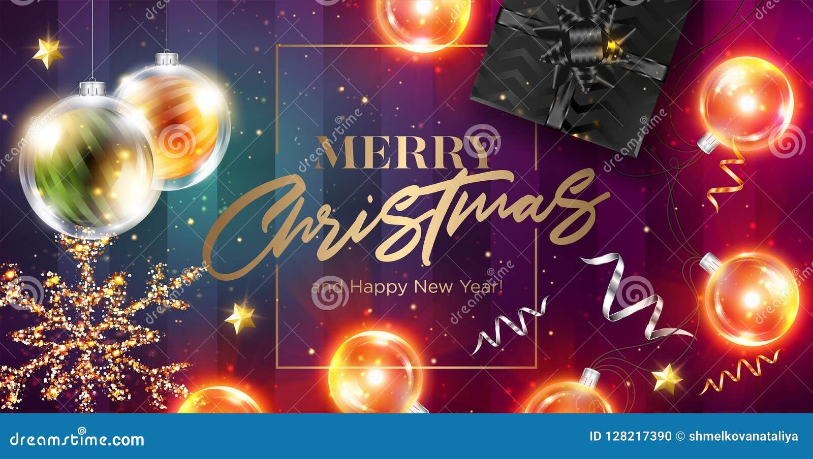 Karcianych bożych narodzeń wesoło wektor Szczęśliwi nowego roku 2019 powitania