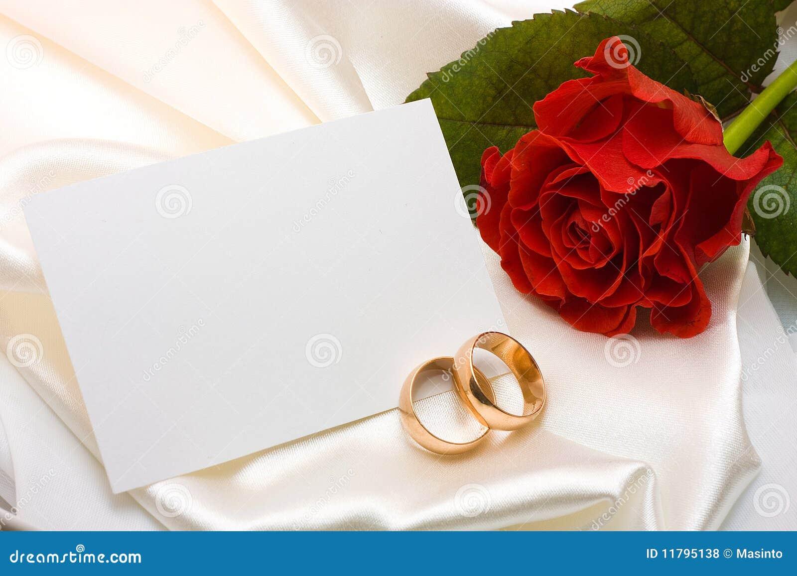 Karcianych pierścionków różany ślub