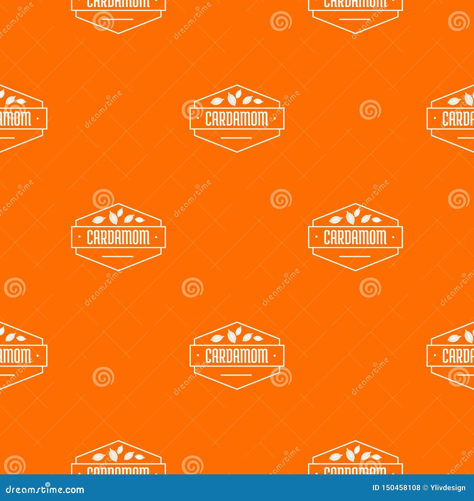 Kardamon deseniowa wektorowa pomarańcze