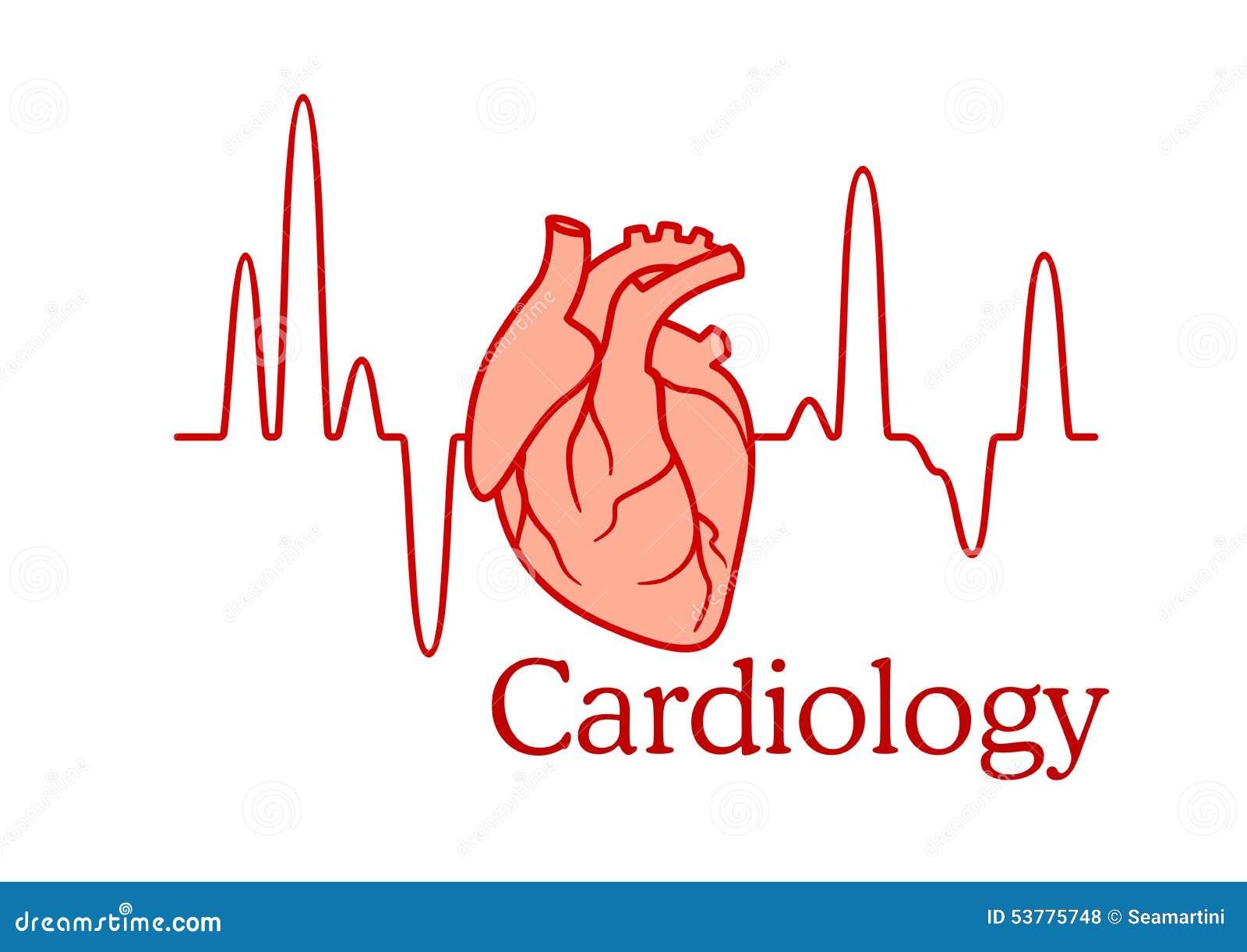 Kardiologii pojęcie z sercem i ECG