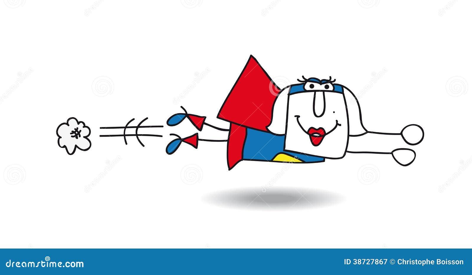 Karen Superwoman Royalty Free Stock Photography - Image: 38727867 Superhero Flying Vector