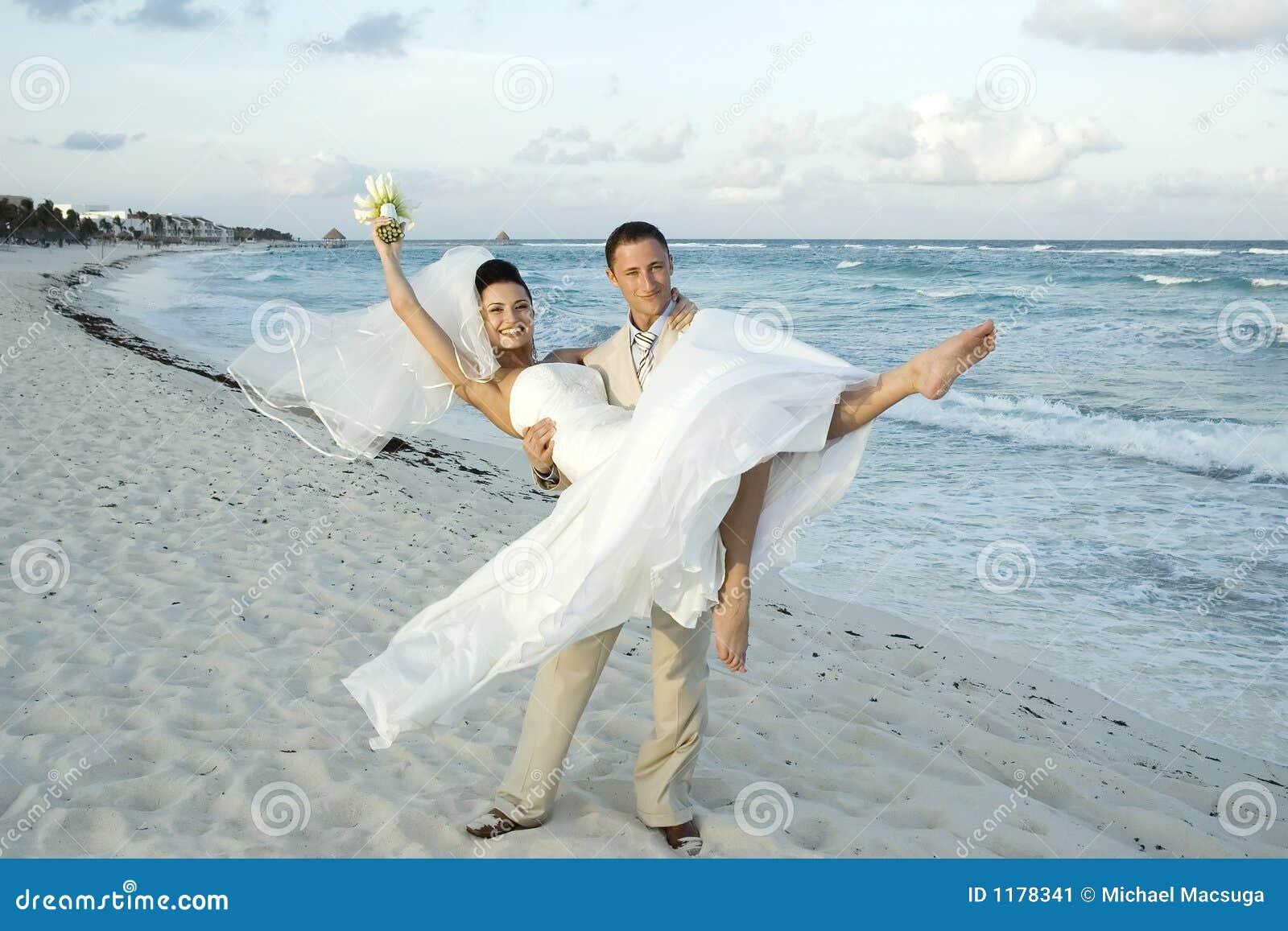 Karibische Strand Hochzeit Cele Stockbild Bild Von Verbindung