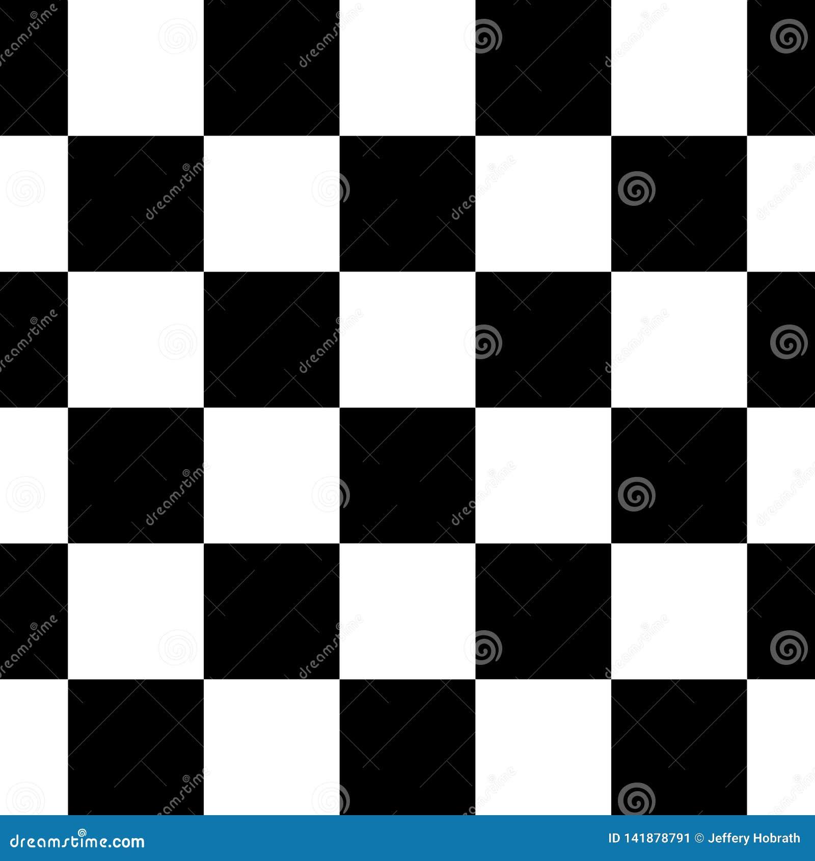 Karierte nahtlose wiederholende Muster-Hintergrund-Vektor-Schwarzweiss-Illustration