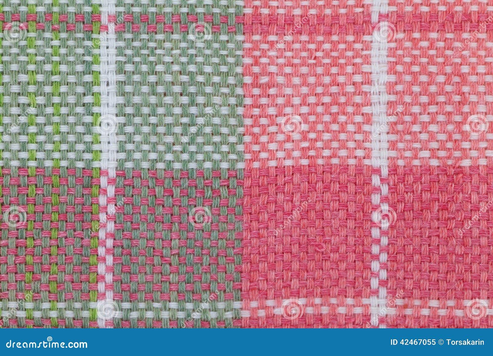 Kariertes Muster der Tischdecke