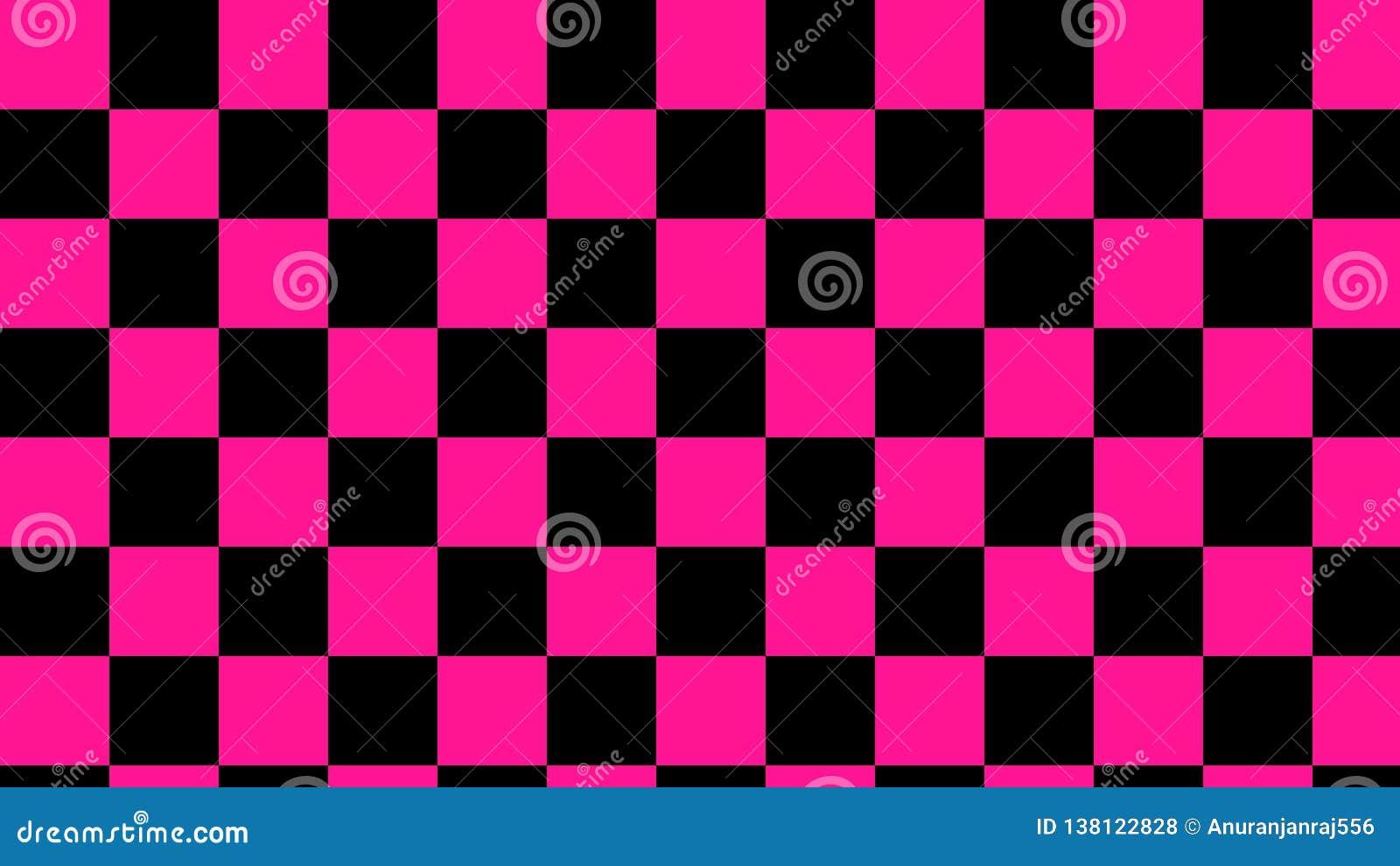 Kariertes Rosa u. schwarzes Quadrat- hellrosa und tiefesschwarzes nahtloses Muster