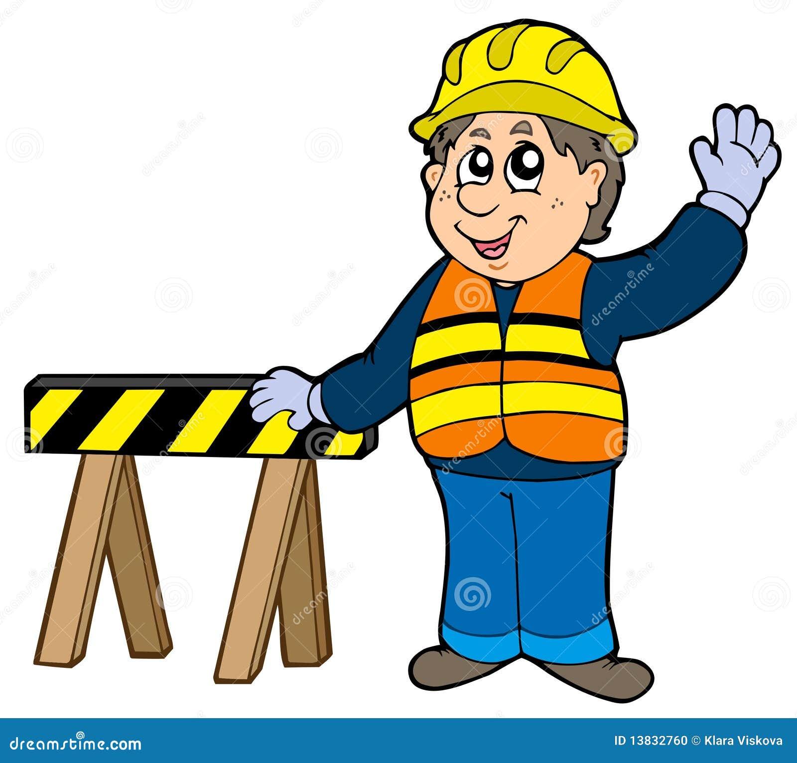 Bauarbeiter clipart schwarz weiß  Bauarbeiter Karikatur Stock Illustrationen, Vektors, & Klipart ...