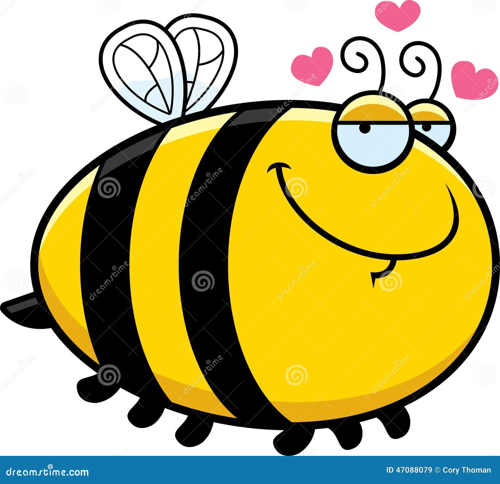 Karikatur-Biene In Der Liebe Vektor Abbildung - Bild: 47088079