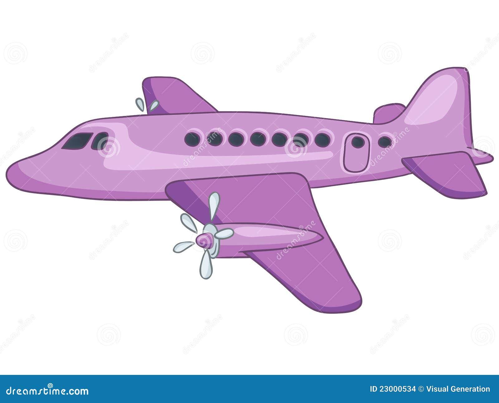 Karikatur Flugzeug